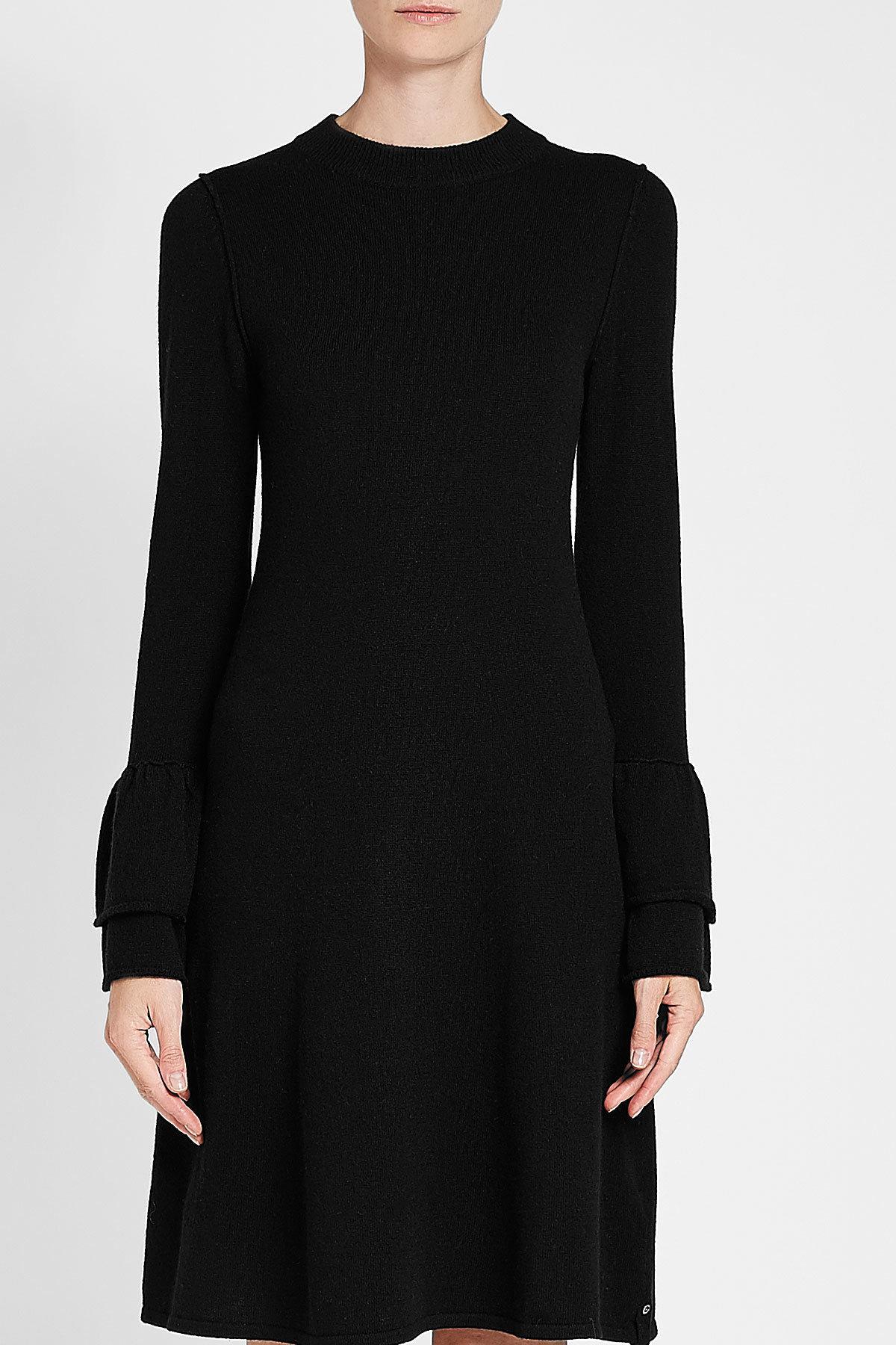 81hours - Black Hada Dress In Wool And Cashmere - Lyst. View fullscreen de6efbf6e