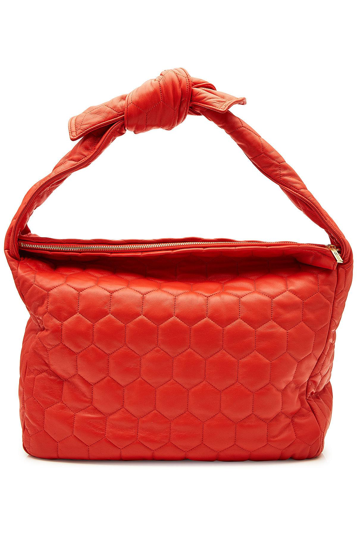 22f328d6f5 Lyst - Victoria Beckham Balloon Leather Tote in Red