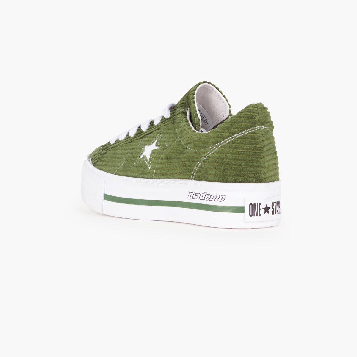 3a4777e31bc Converse X Mademe One Star Platform in Green - Lyst