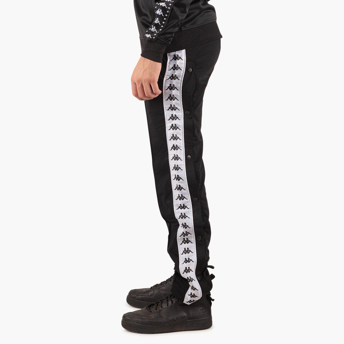 960fba86 Kappa - Black 222 Banda Astoria Snaps Slim Pant for Men - Lyst. View  fullscreen