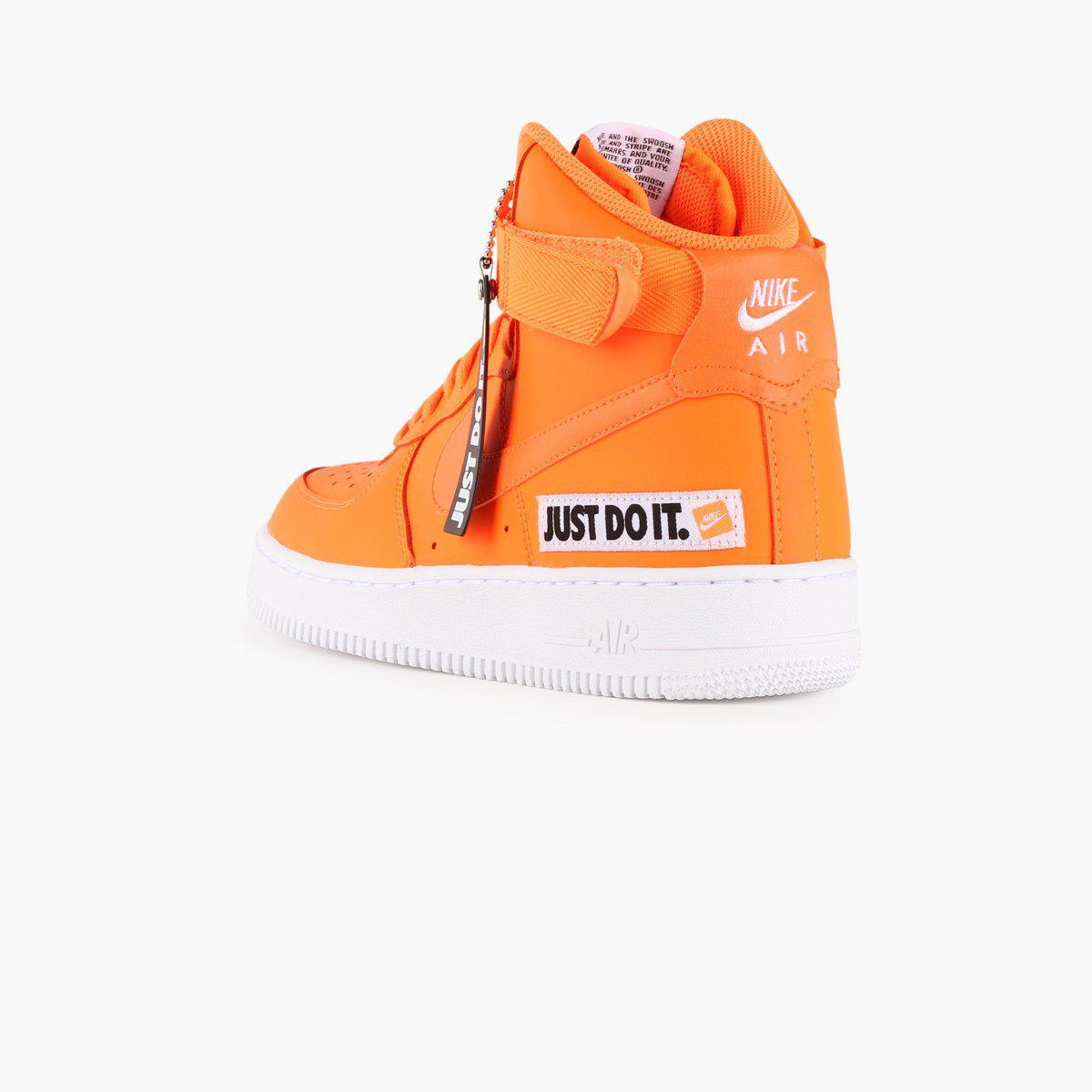 more photos 843c3 e7371 Nike Air Force 1 High Lx Leather Women s in Orange - Lyst