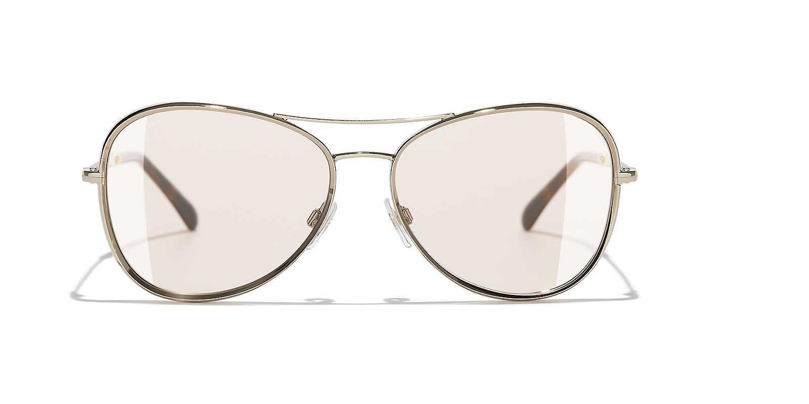 ea1f16e08d60 Chanel - Brown Sunglass Pilot Sunglasses - Lyst. View fullscreen