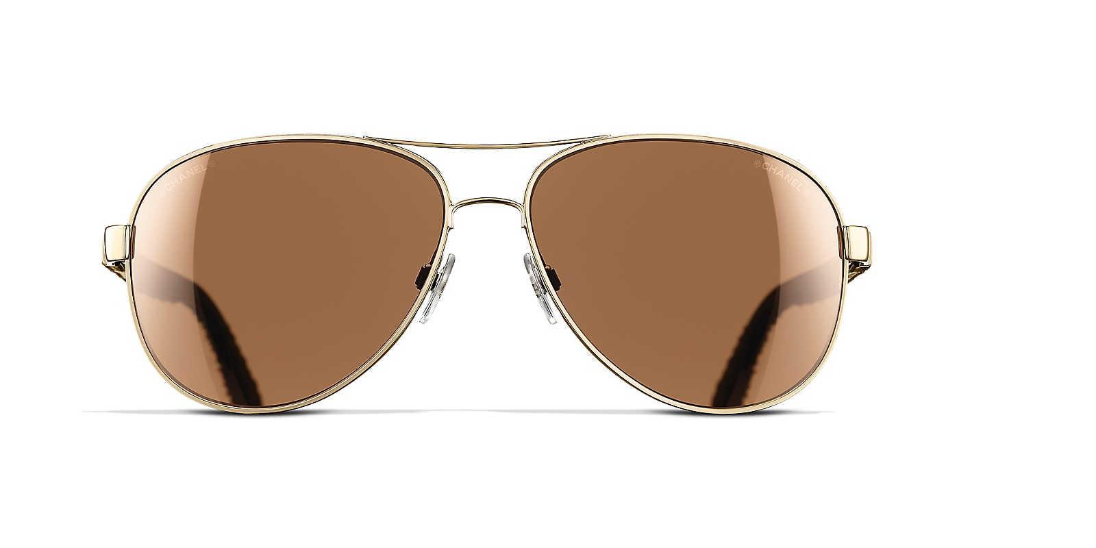 ac8e857a951 Chanel Pilot Sunglasses in Metallic - Lyst