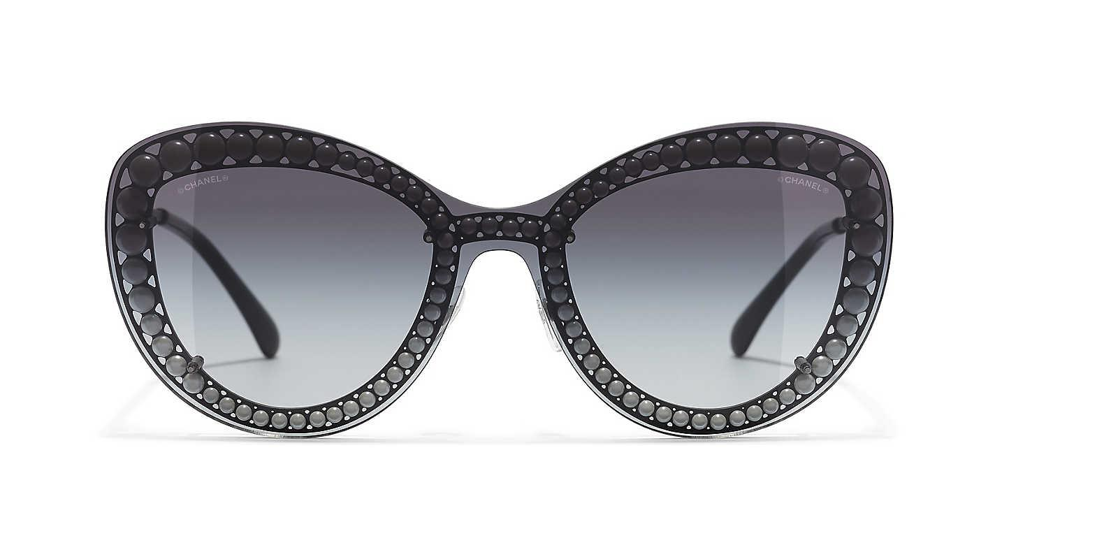 884acaf9f5c Chanel Butterfly Sunglasses in Black - Lyst