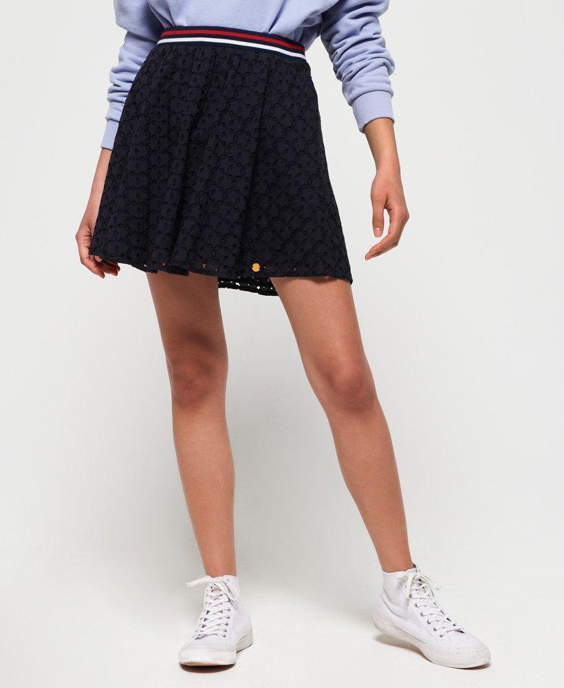 a8316b61 Lyst - Superdry Teagan Schiffli Skirt in Blue