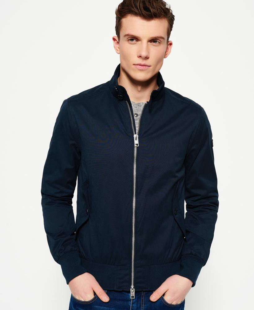 Superdry Nordic Harrington Jacket In Blue For Men Lyst