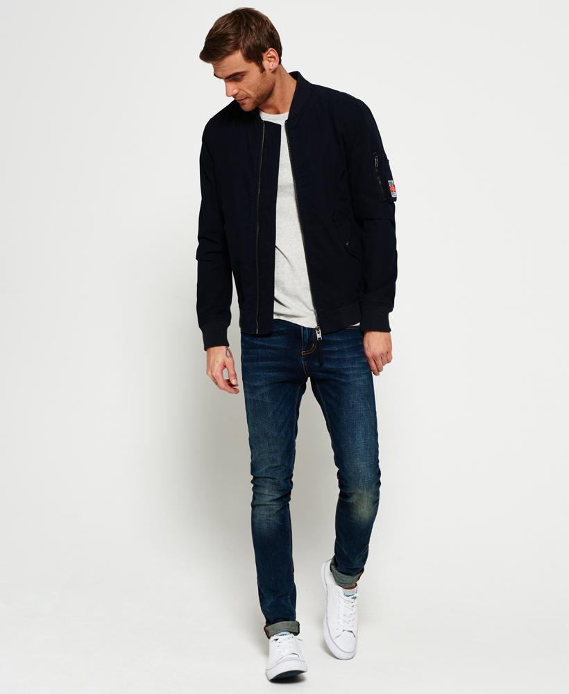 Superdry Rookie Drone Bomber Jacket In Blue For Men