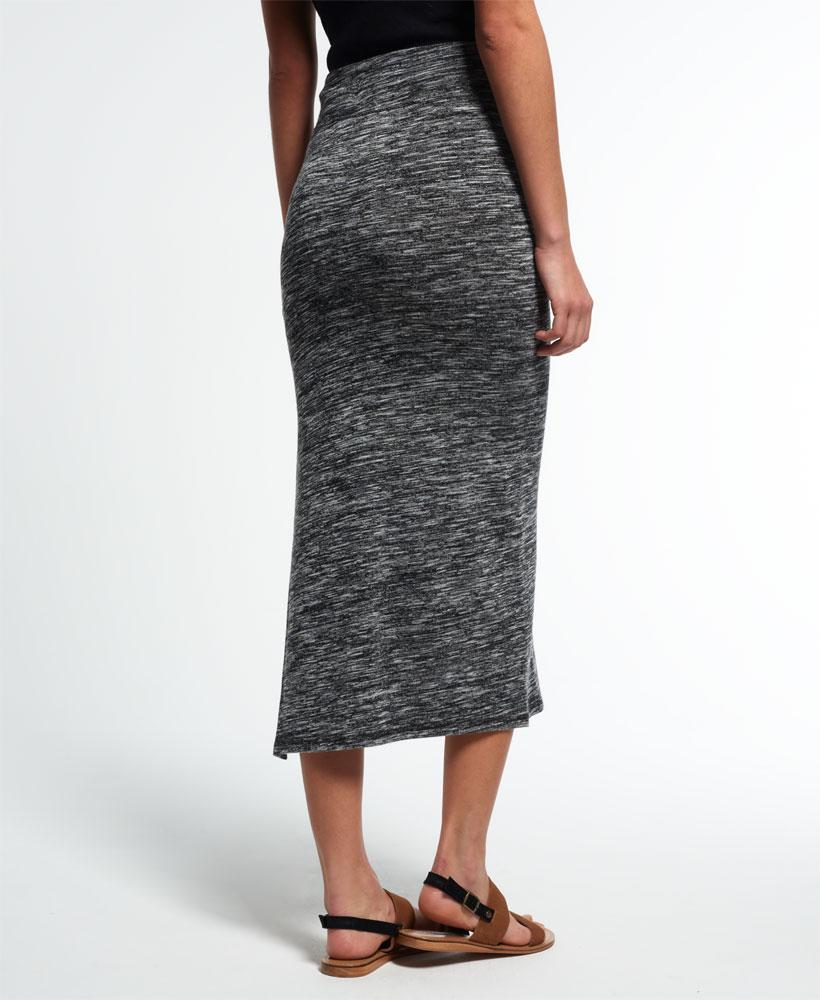 1b47c757ce Superdry Essential Twist Maxi Skirt in Gray - Lyst
