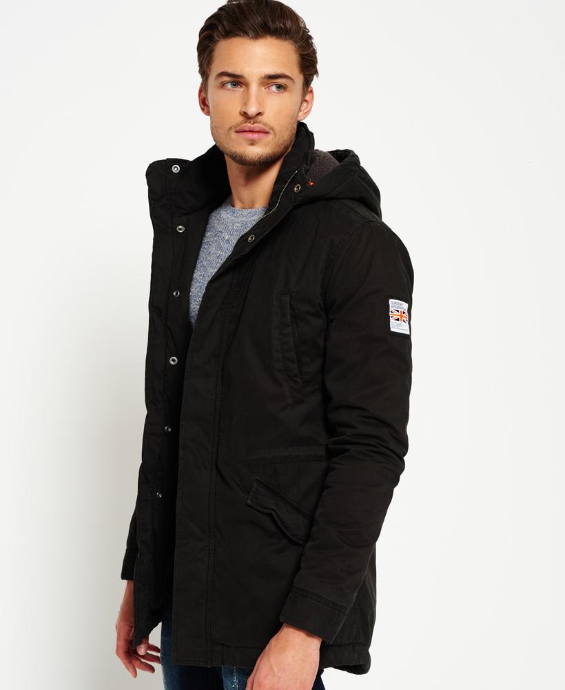 Superdry Rookie Military Parka Jacket In Black For Men Lyst