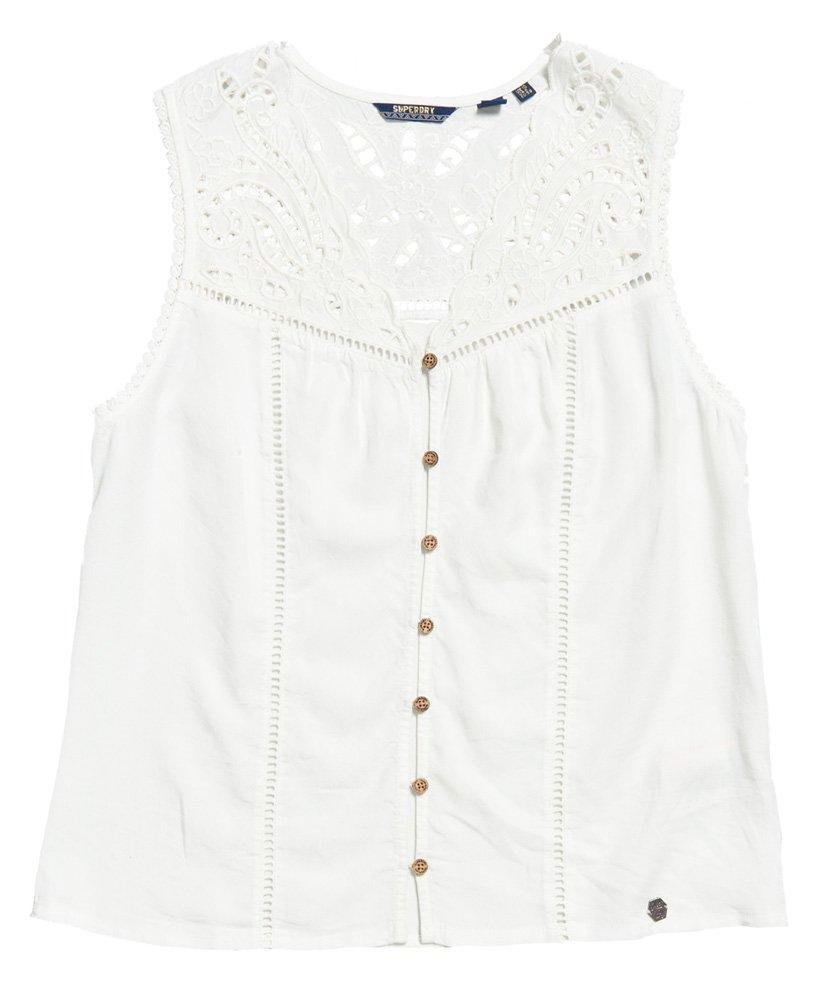 a3deeb43a3db3 Lyst - Superdry Robyn Sleeveless Shirt in White