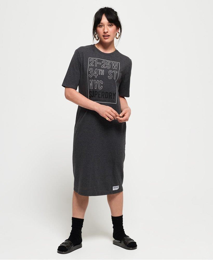 4a4639d5 Lyst - Superdry Kellow Graphic Midi Dress in Gray