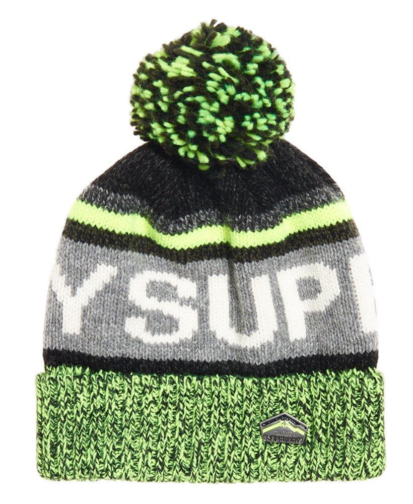 6442c2558fc Superdry Super Sd Logo Beanie in Gray for Men - Lyst