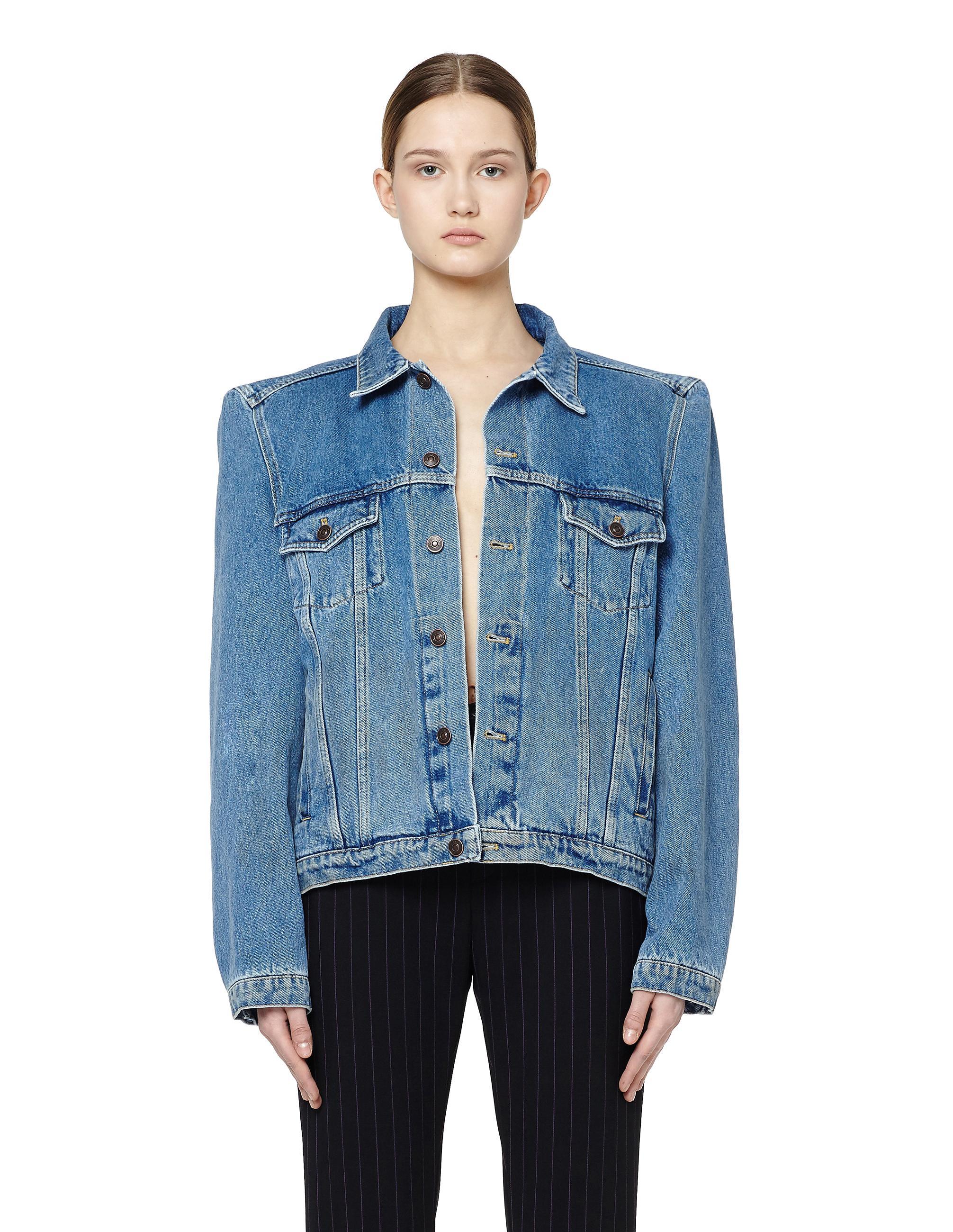 Balenciaga Denim Jacket In Blue Lyst