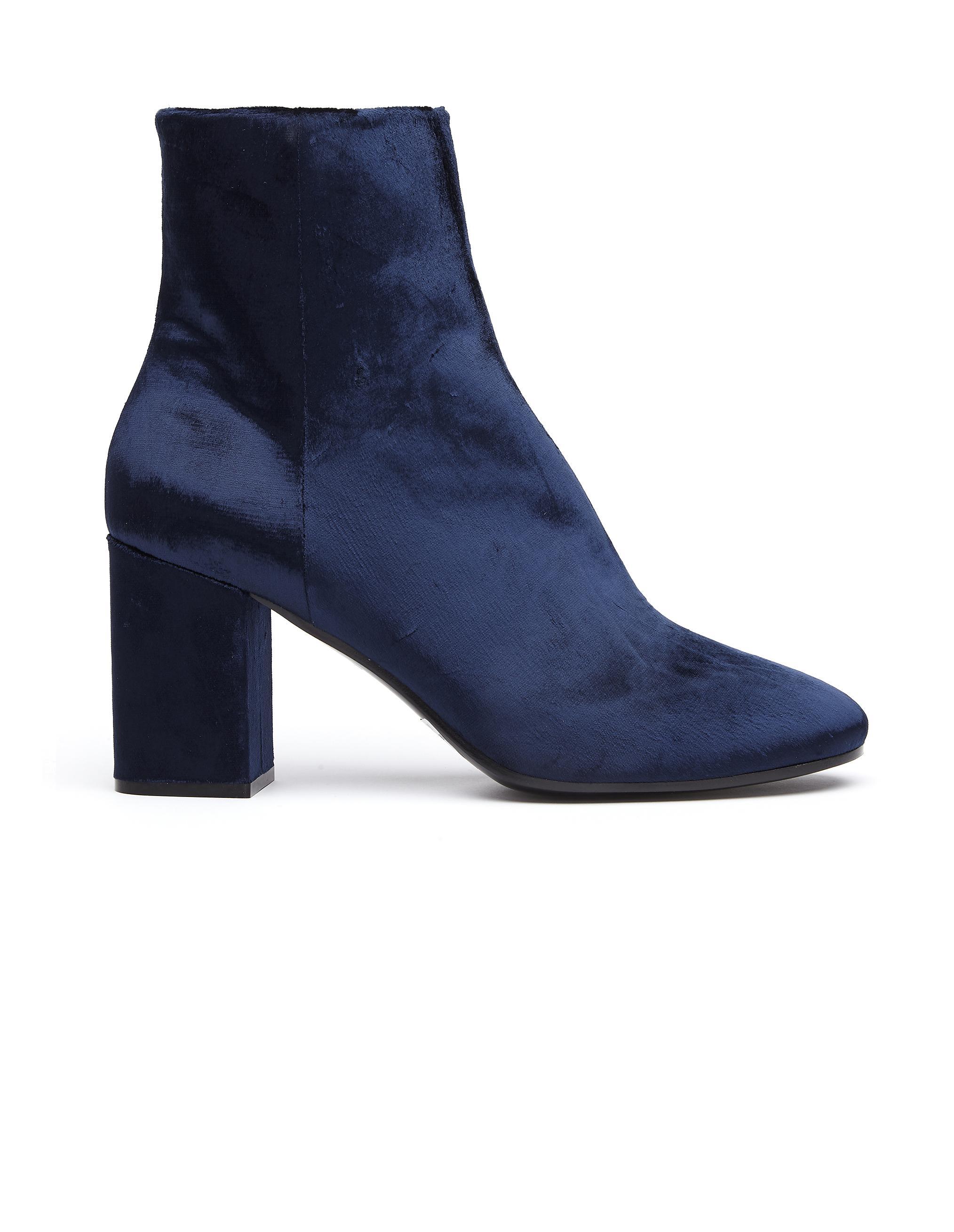 Lyst Balenciaga Velvet Ankle Boots In Blue