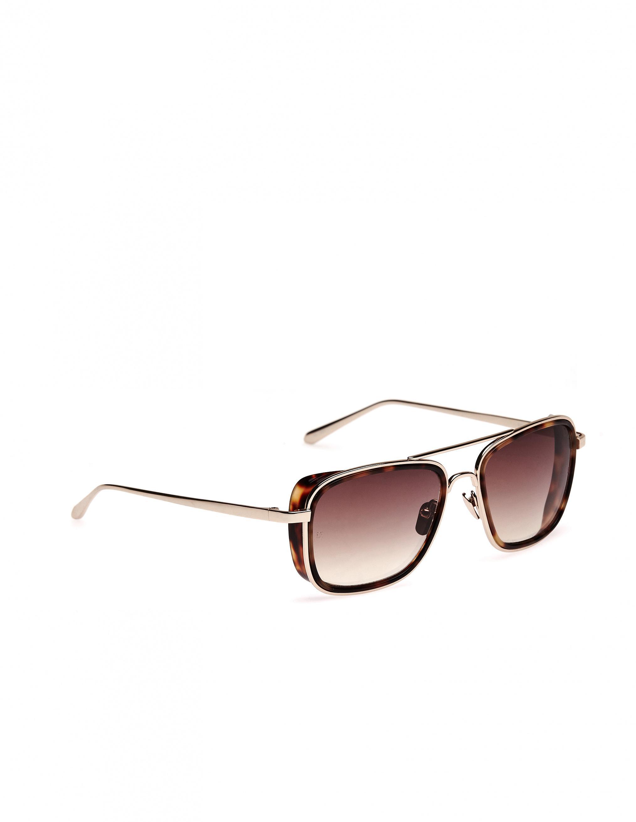 38ecaafe8d2 Linda Farrow Luxe Sunglasses in Brown - Lyst