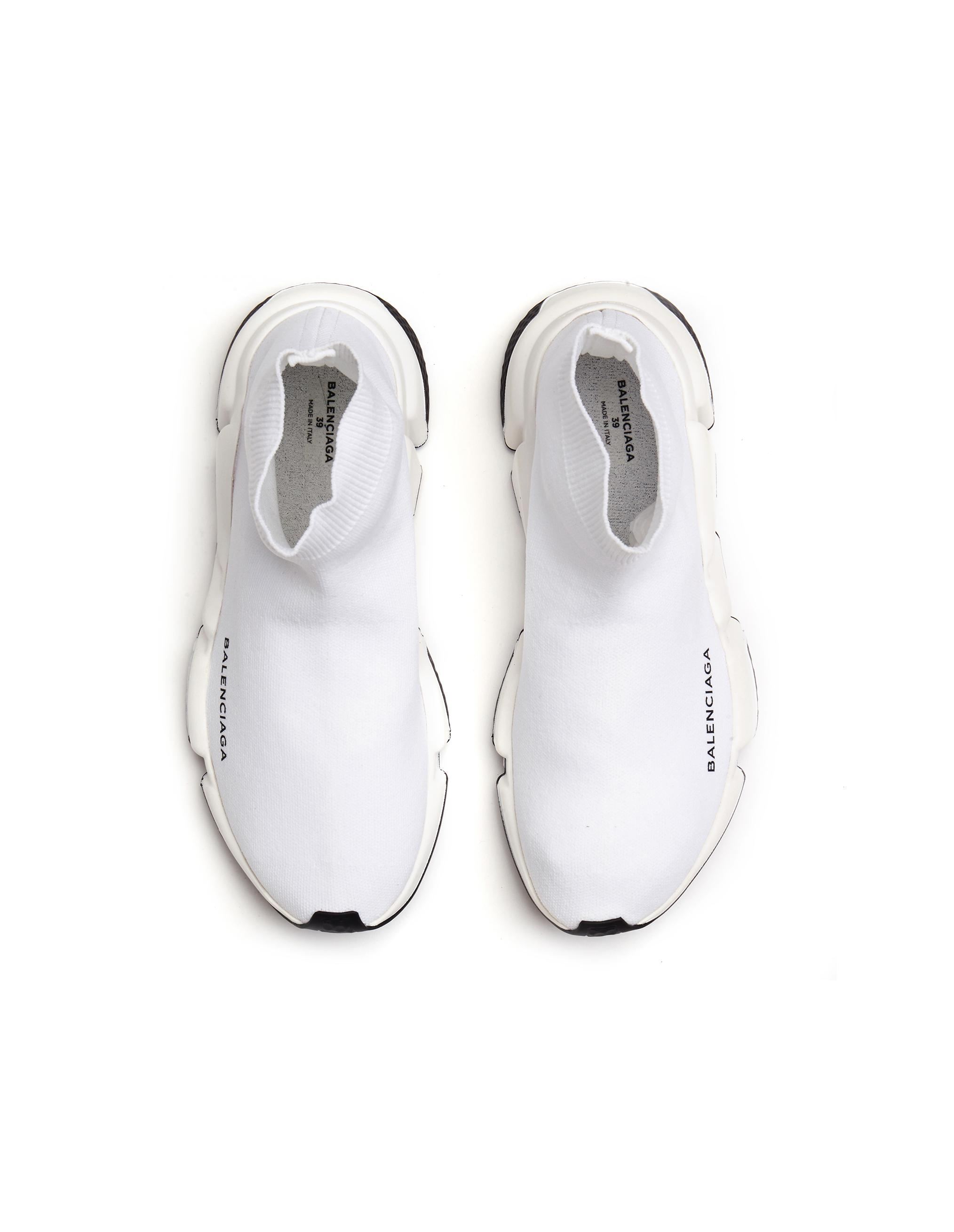 18a7a57ddaef Lyst - Balenciaga Speed Trainer Sneakers in White - Save 12%