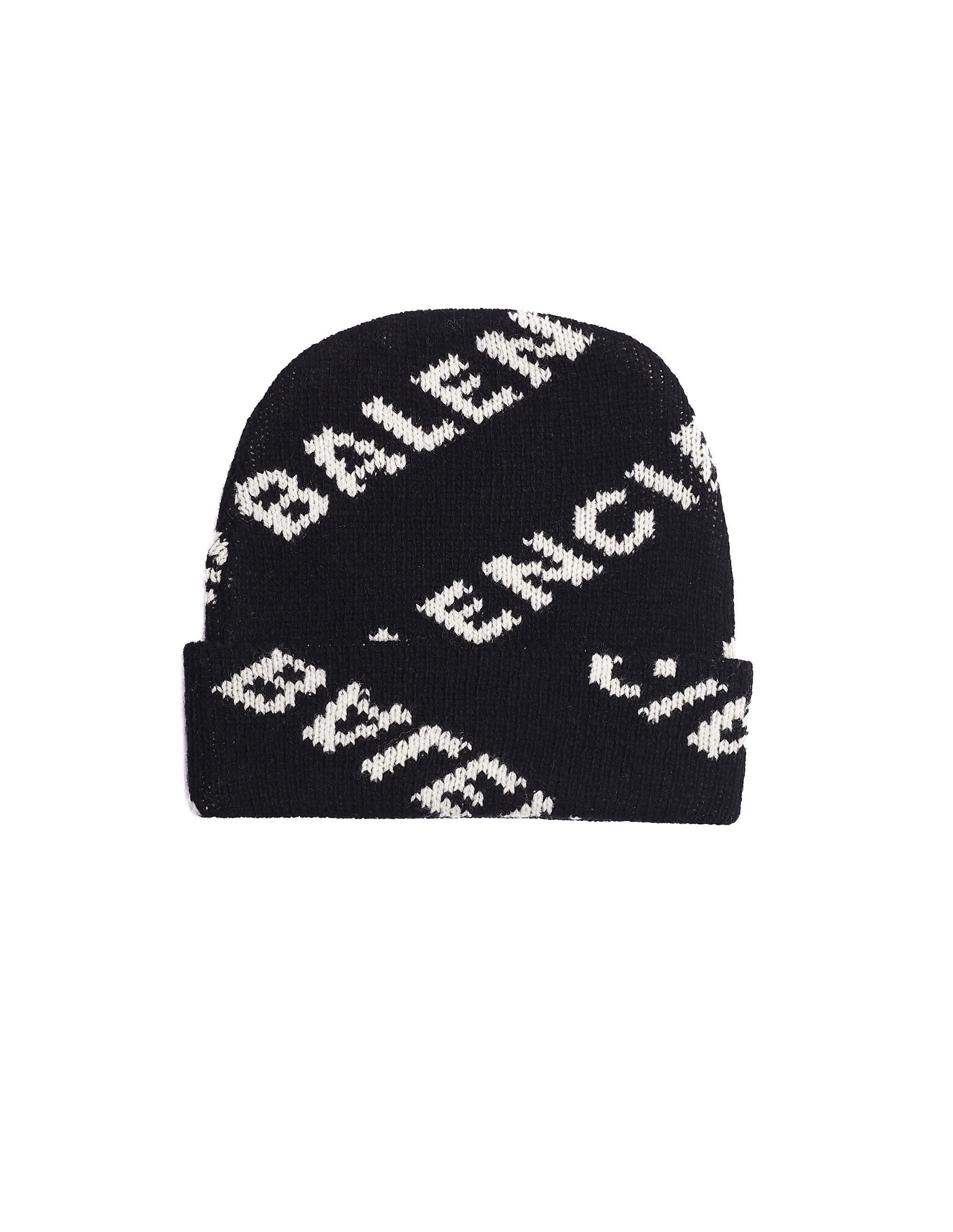 e40d83e3bb9 Balenciaga Jacquard Logo Beanie in Black for Men - Lyst