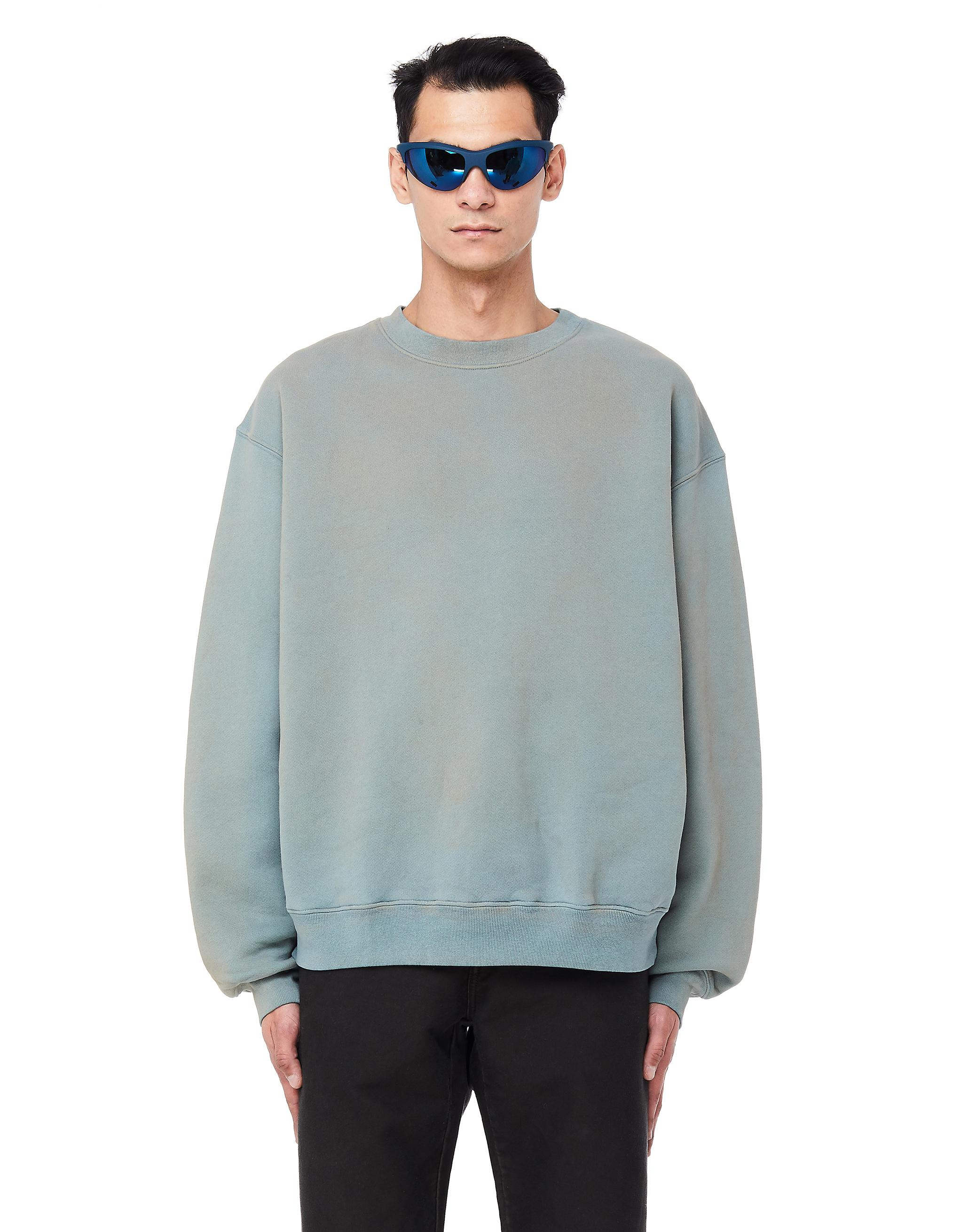 91f8682a5 Lyst - Yeezy Glacier Cotton Sweatshirt in Blue for Men
