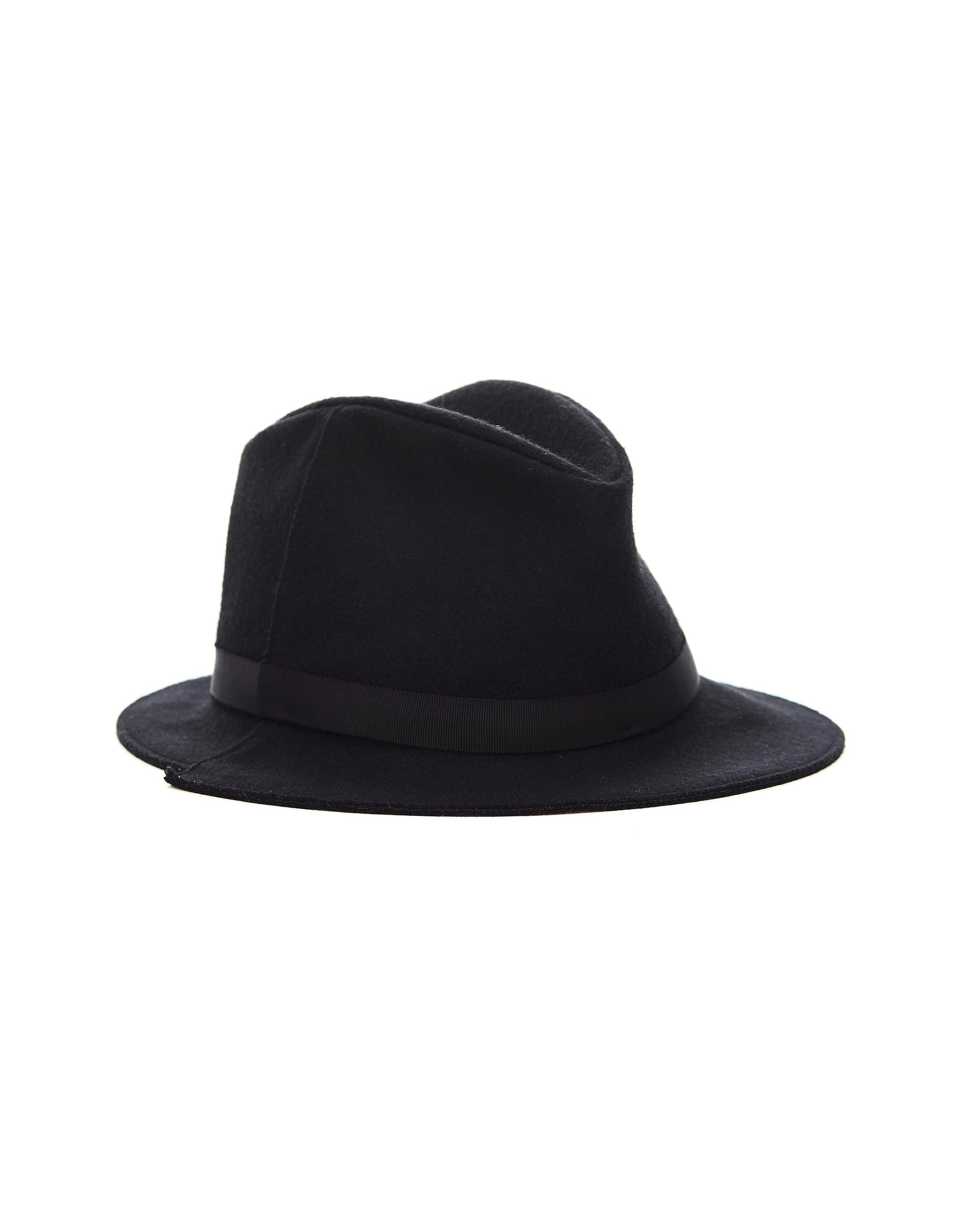 ef6b963b200 Lyst - Yohji Yamamoto Black Wool Hat in Black