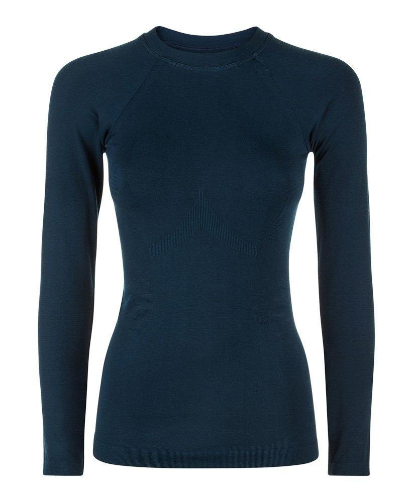 1f58714a608ba Lyst - Sweaty Betty Glisten Bamboo Long Sleeve Workout Top in Blue - Save  50%