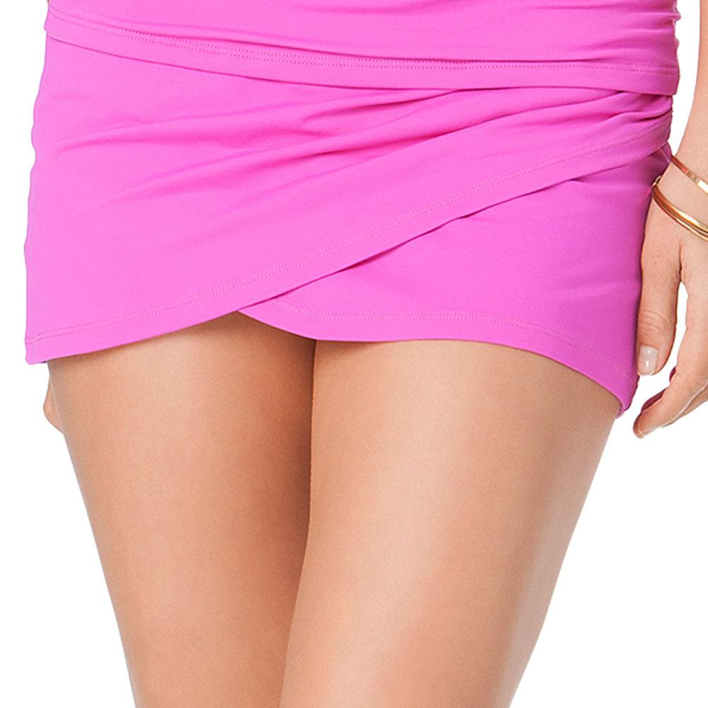 a1a0623c53ae6 Lyst - Anne Cole Color Blast Solids Sarong Swim Skirt Bottom in Pink