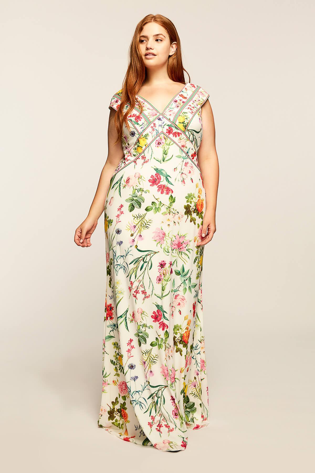 Lyst - Tadashi Shoji Clara Gown - Plus Size in White