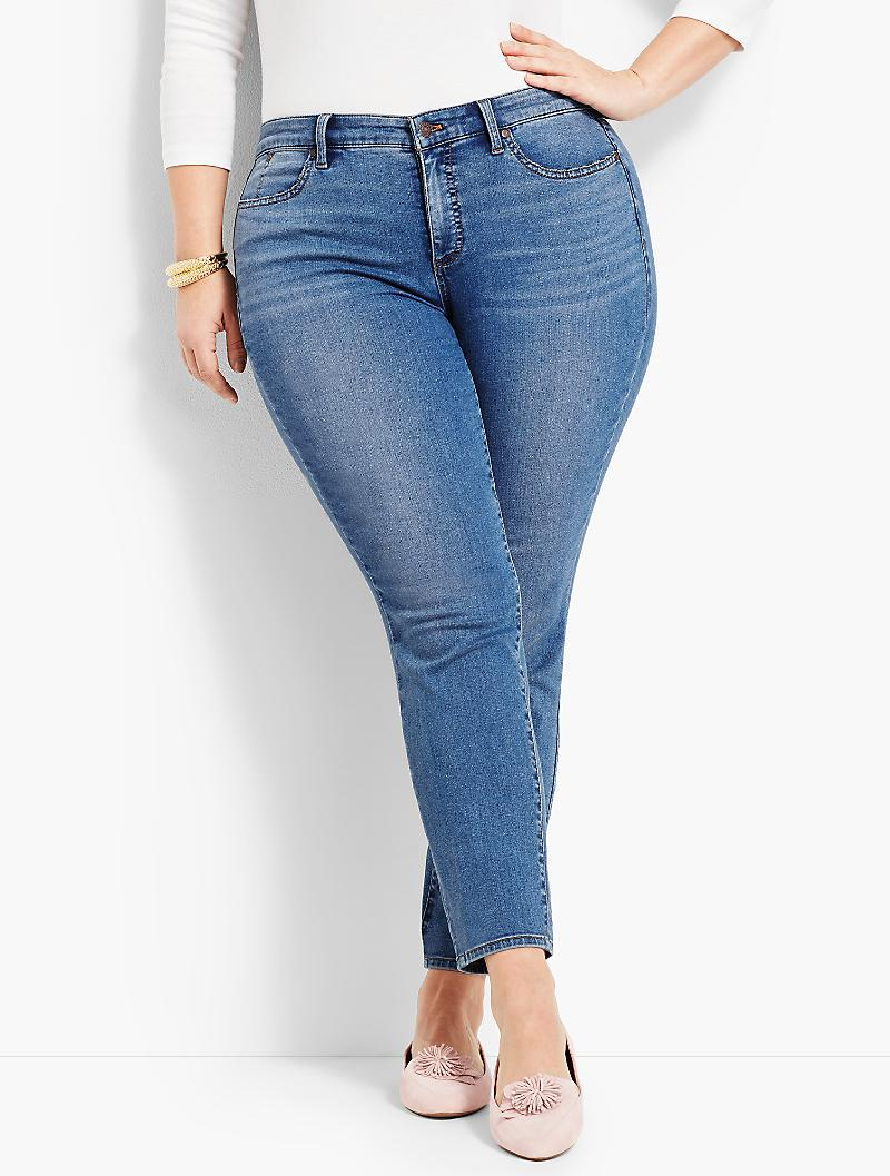 496594534ea Talbots Woman Exclusive Luxe Stretch Denim Slim Ankle - Curvy Fit ...