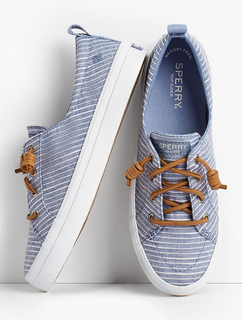 76864a1b846 Lyst - Talbots Sperry® Crest Vibe Sneakers - Chambray Stripe in Blue