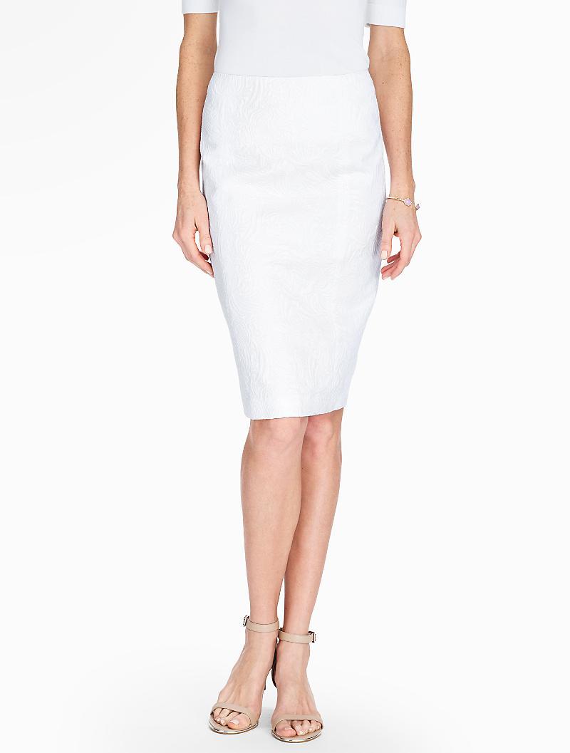 talbots matelass 227 169 pencil skirt in white lyst