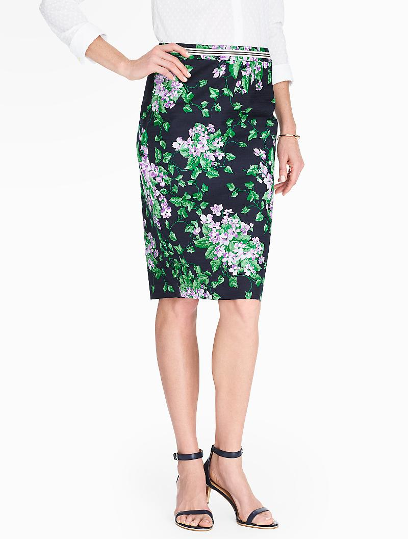 talbots the pencil skirt in green lyst