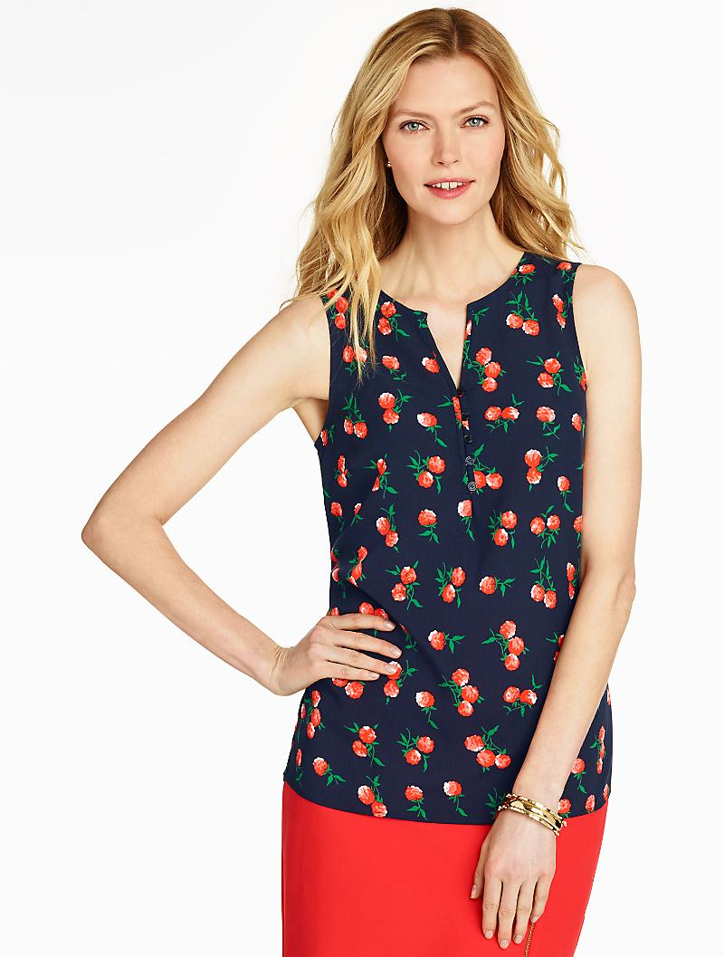 Talbots Raspberry Popover Shell in Blue | Lyst