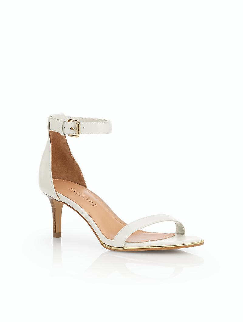 1be03eb7e069 Lyst - Talbots Trulli Ankle-strap Sandals in White