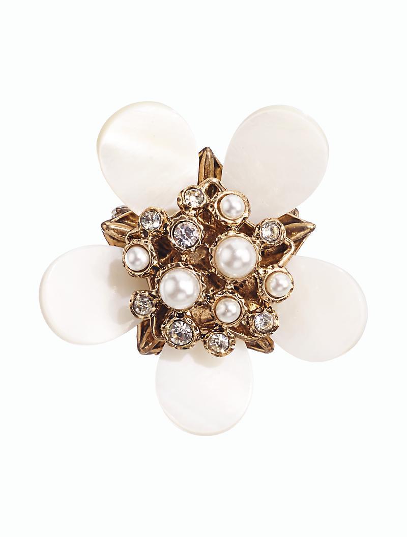 talbots of pearl flower brooch lyst