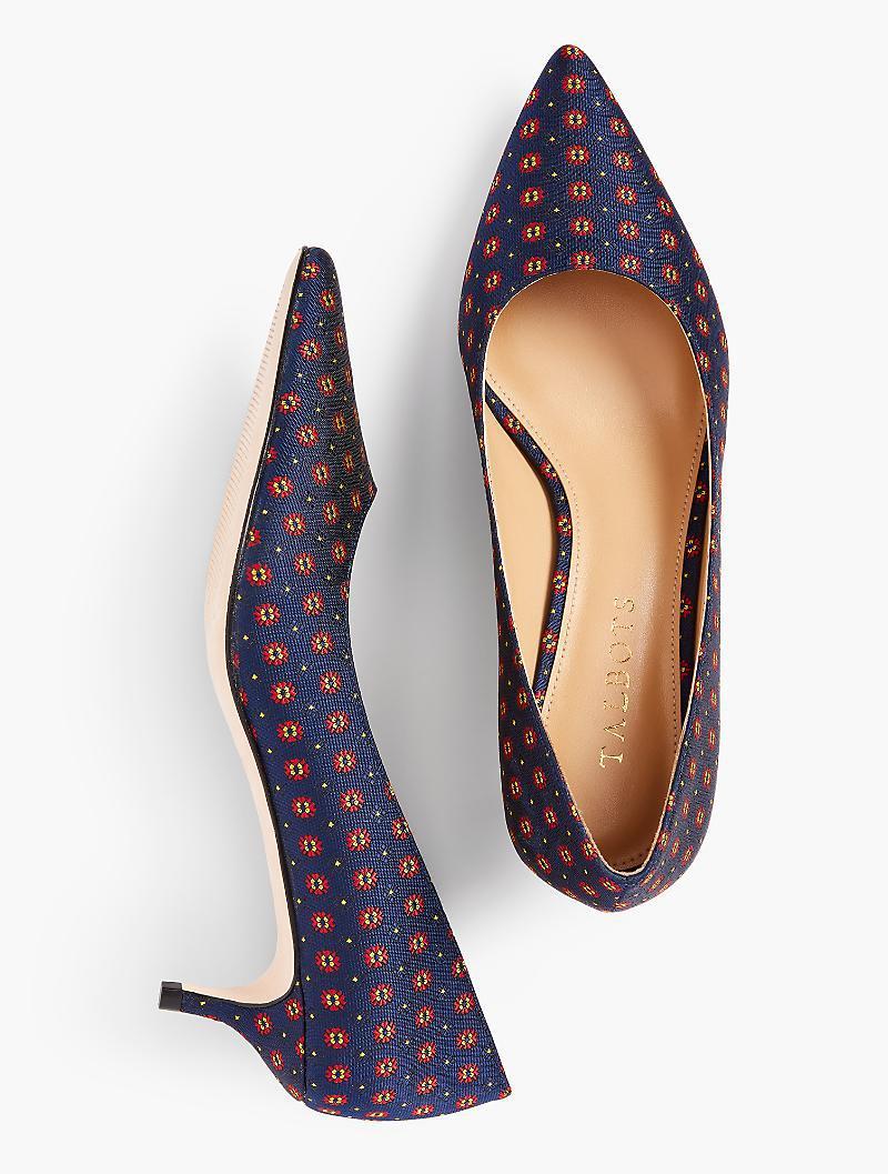 321b1712dfeb Talbots - Blue Sylvie Kitten-heel Pumps - Foulard - Lyst. View fullscreen