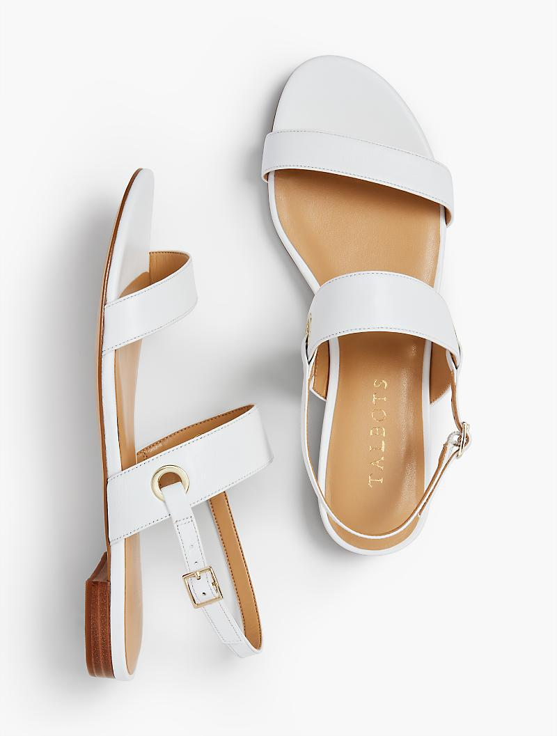 a79372c1aff5 Lyst - Talbots Keri Double Strap Sandals - Solid in White