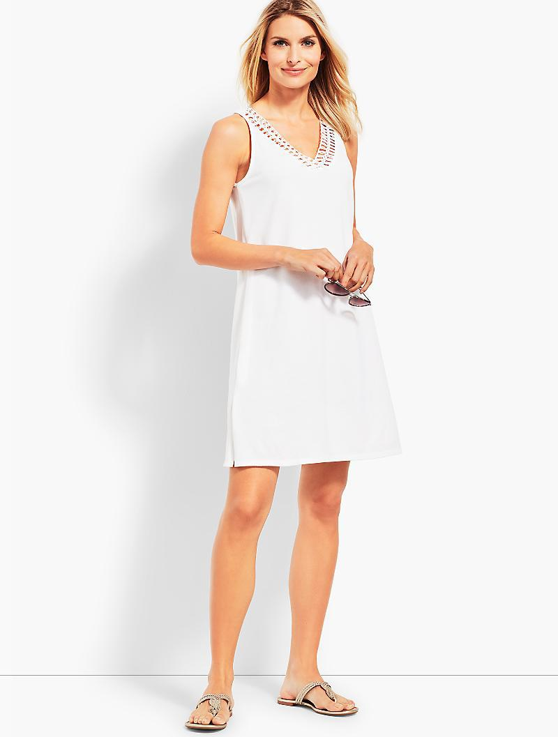 f79a18c227 Lyst - Talbots Solid-color Shift Dress in White
