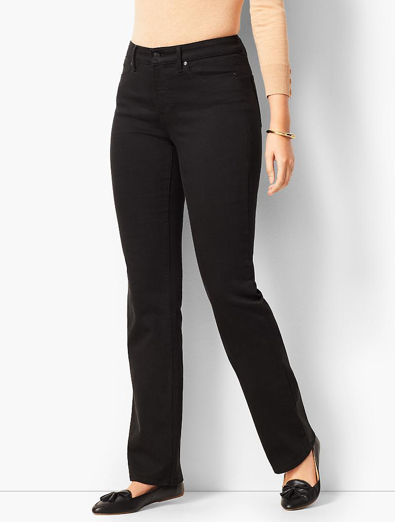 94732f2ebf0 Talbots - High-rise Barely Boot Jeans - Curvy Fit never Fade Black -. View  fullscreen