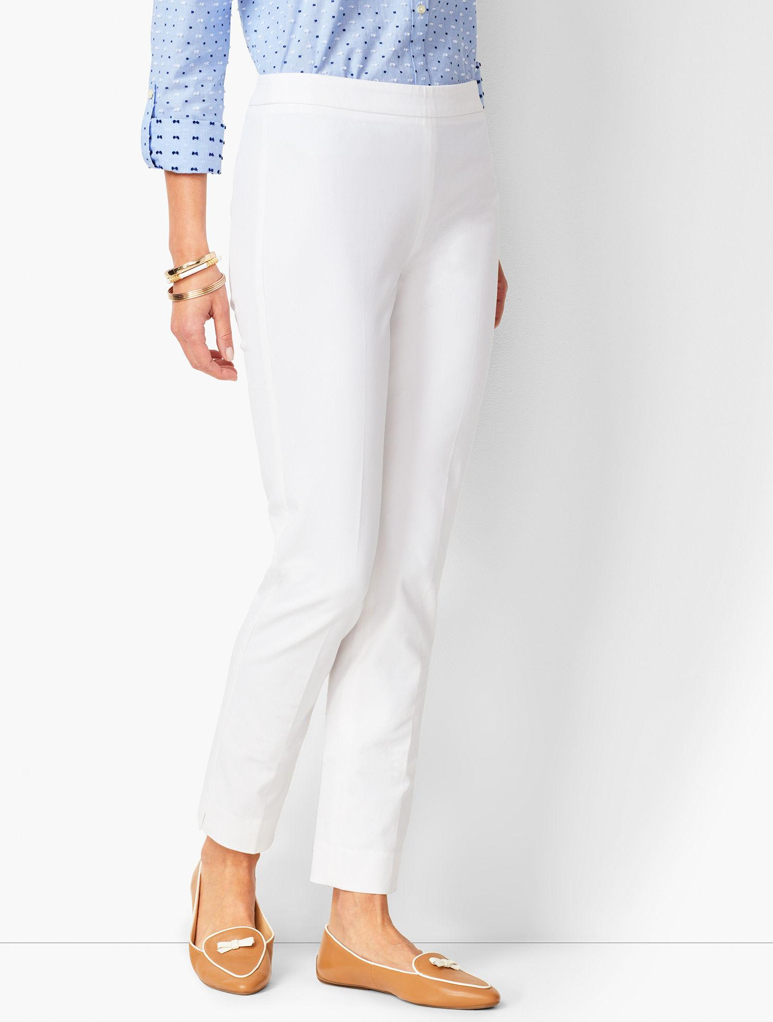 dfcc8b46a2 Lyst - Talbots Chatham Ankle Pants in White