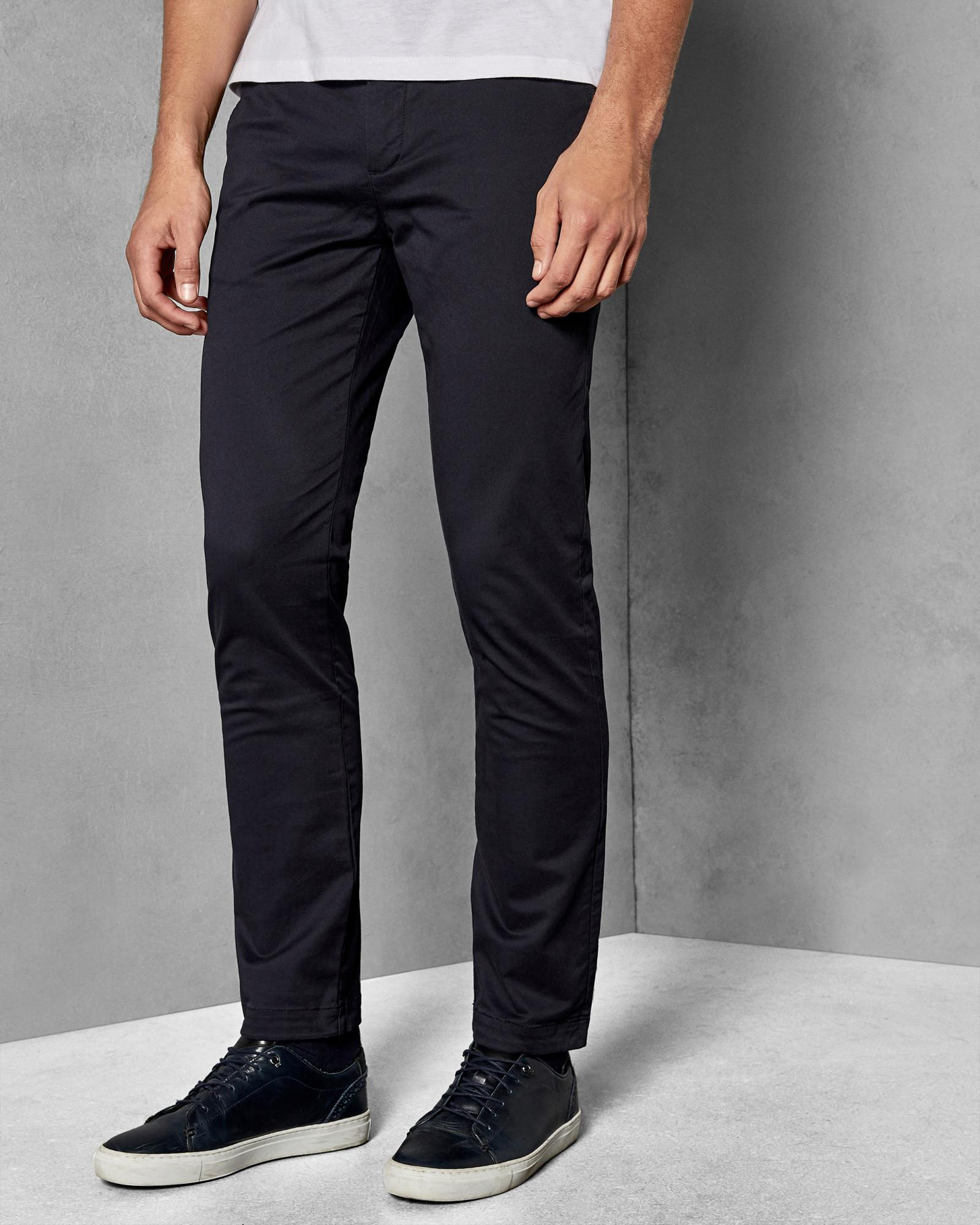 b1b904cee Lyst - Ted Baker Tapered Fit Chinos in Blue for Men