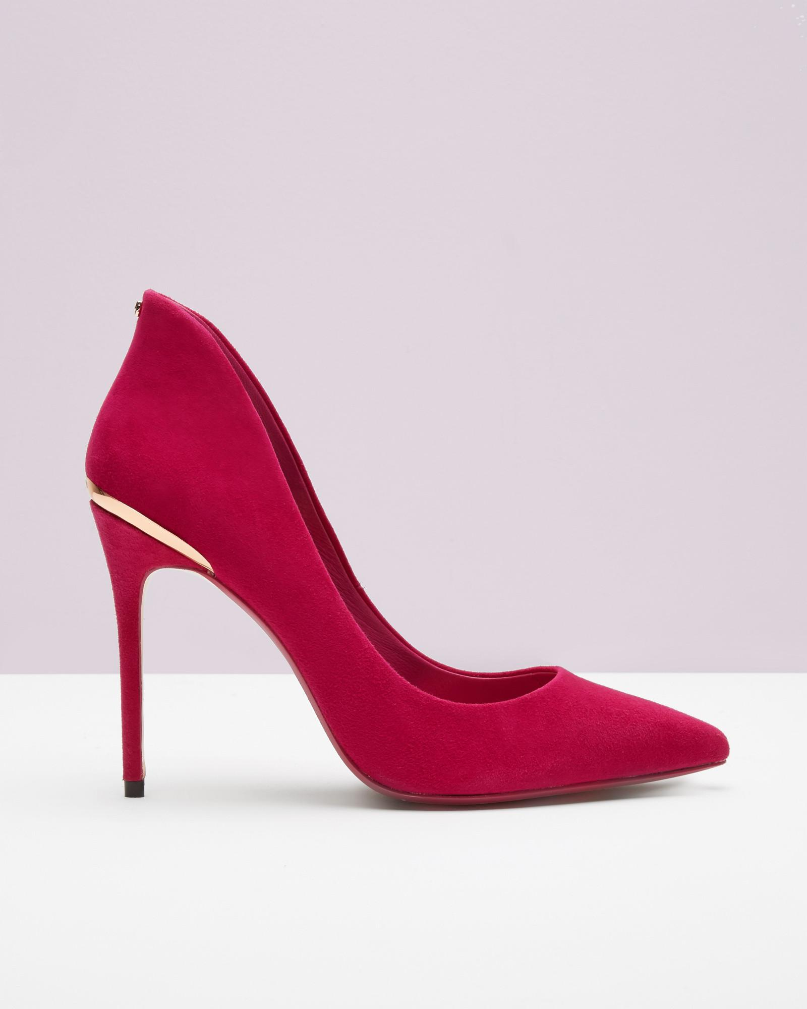 095191ec1 Ted Baker Pointed Leather Court Shoes in Pink - Lyst
