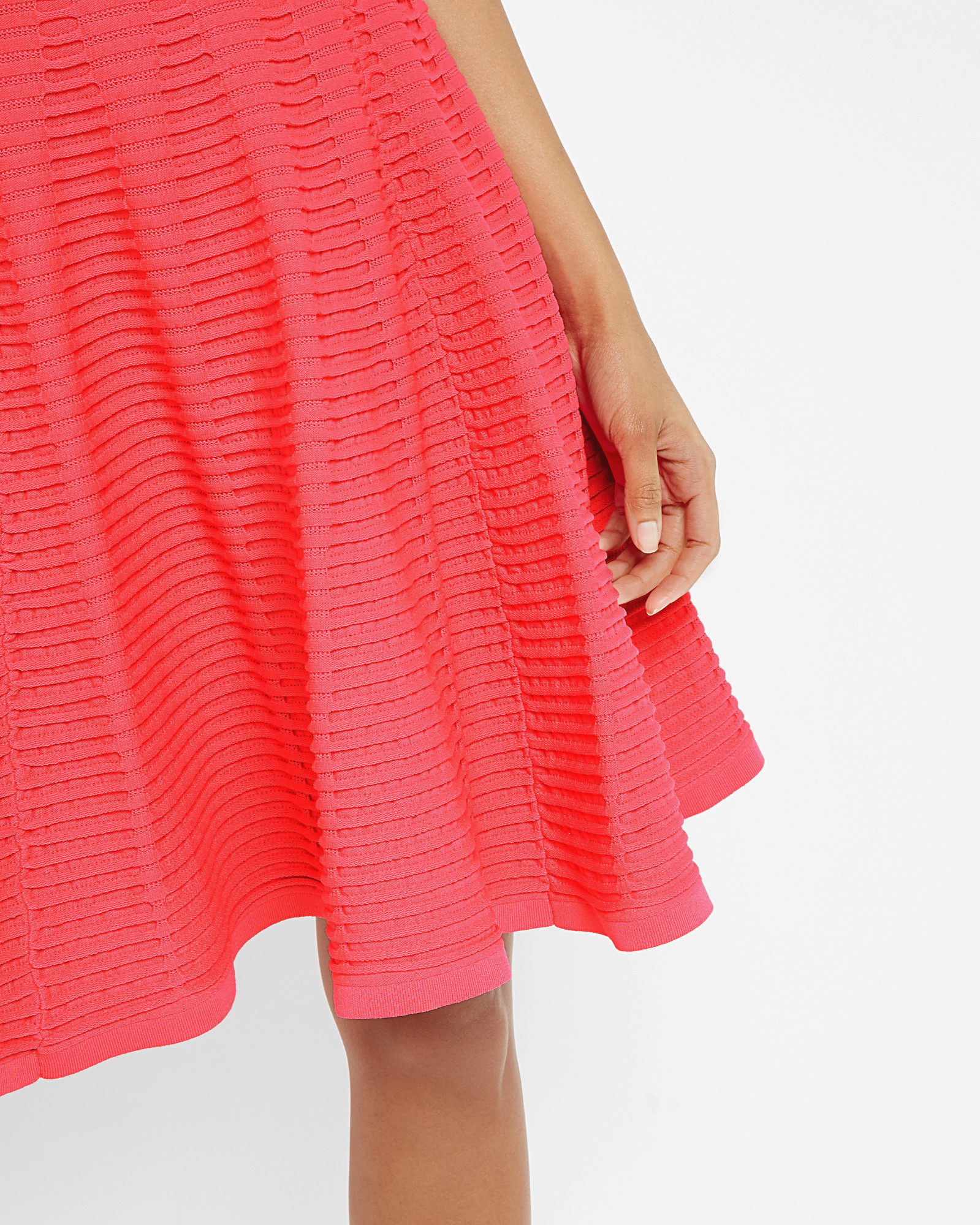 Ted baker Ottoman Ribbed Dress in Red