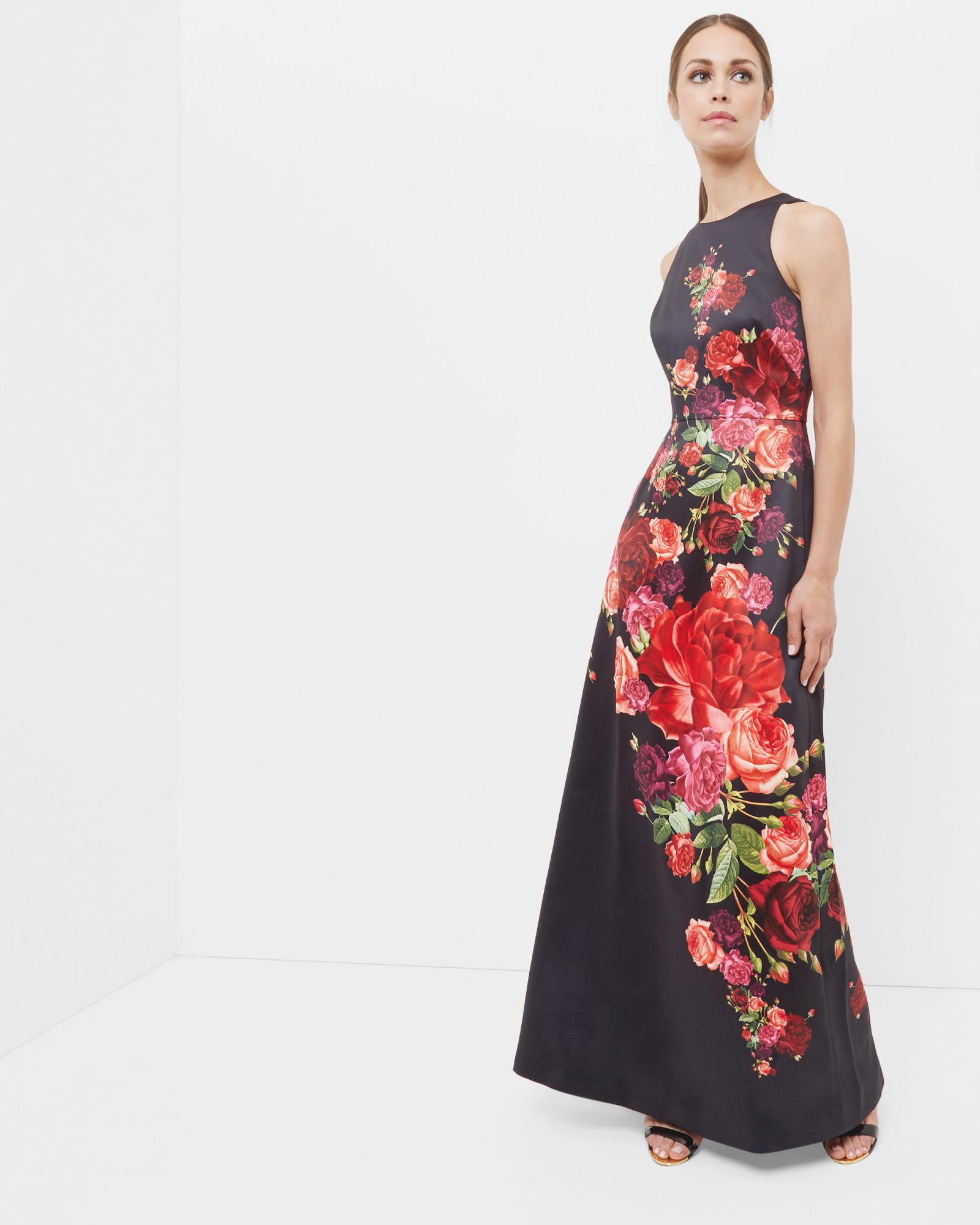 Lyst - Ted baker Marico Juxtapose Rose Maxi Dress in Black