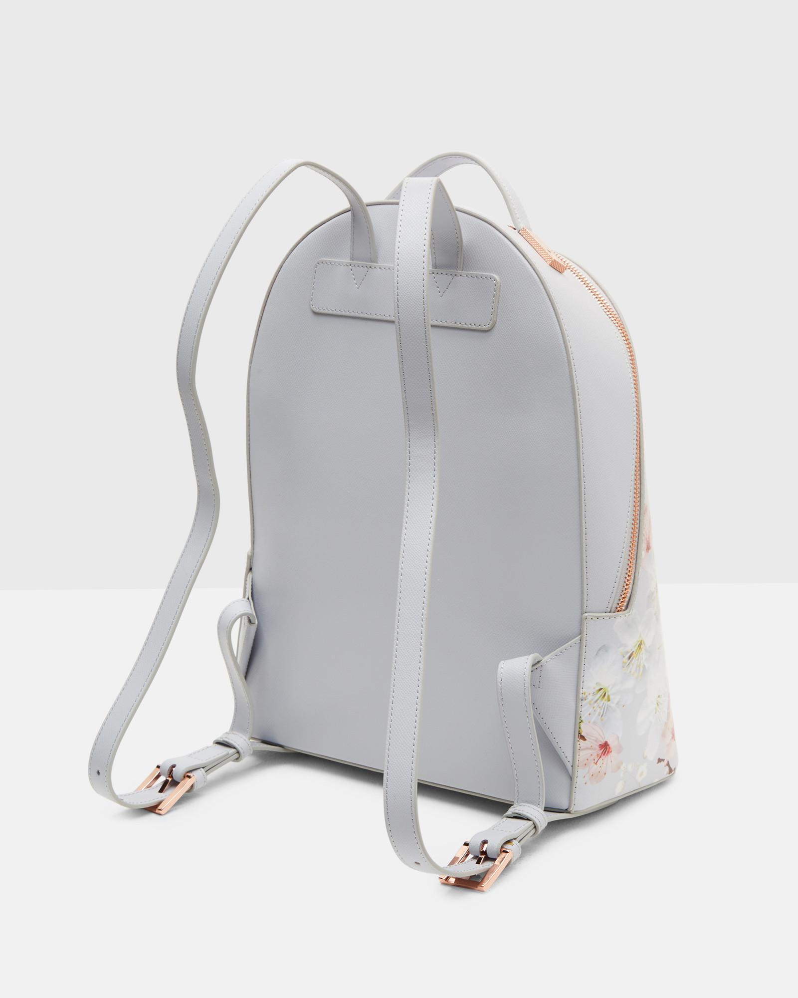 103718652 Lyst - Ted Baker Oriental Blossom Leather Backpack in Gray