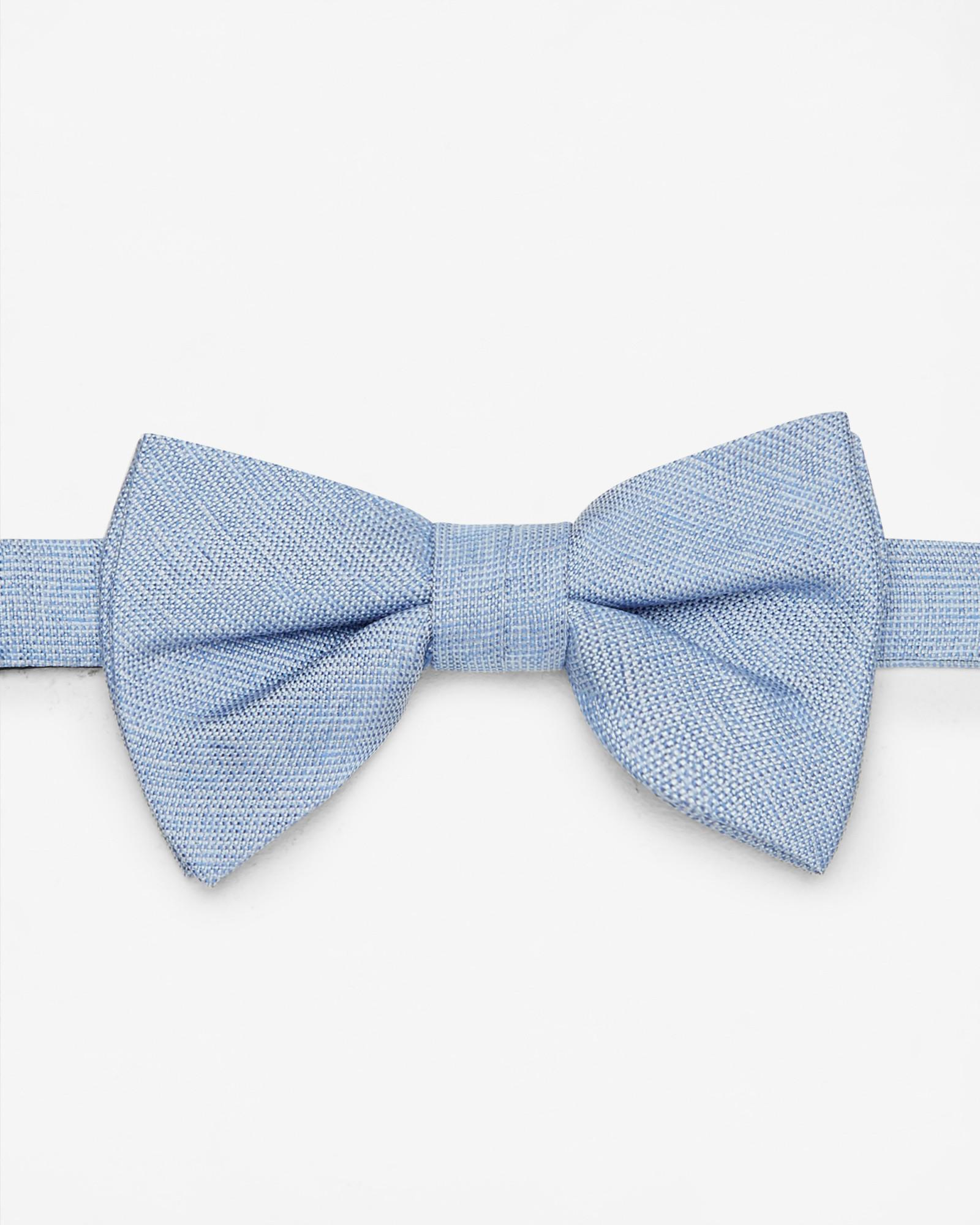 c593382ff2d08a Ted Baker Textured Silk Bow Tie in Blue for Men - Lyst