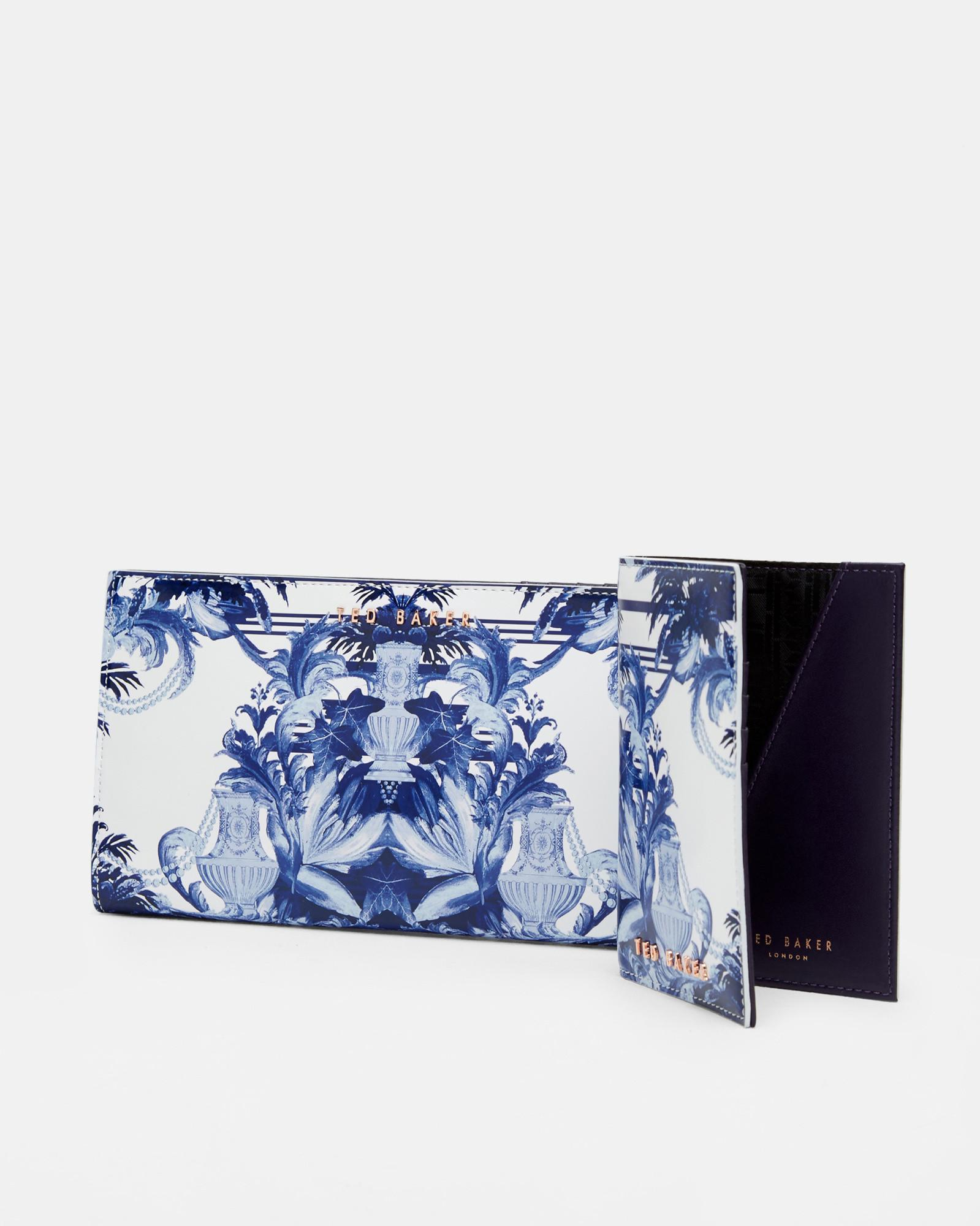 de9c2a27d6ab Ted Baker Persian Blue Leather Travel Wallet in Blue - Lyst