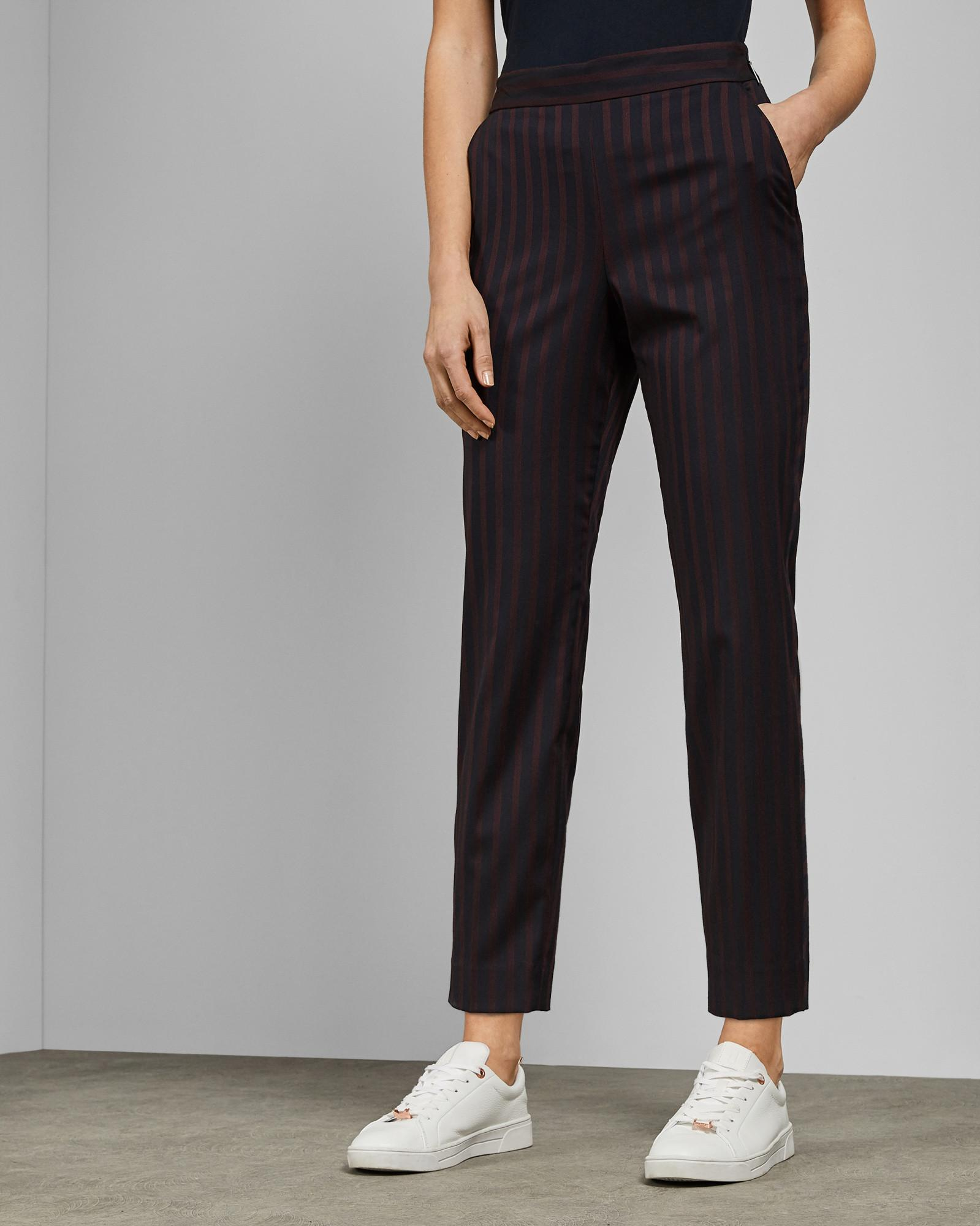 a62c015a0ef9a Ted Baker Tapered Cropped Trousers in Blue - Lyst
