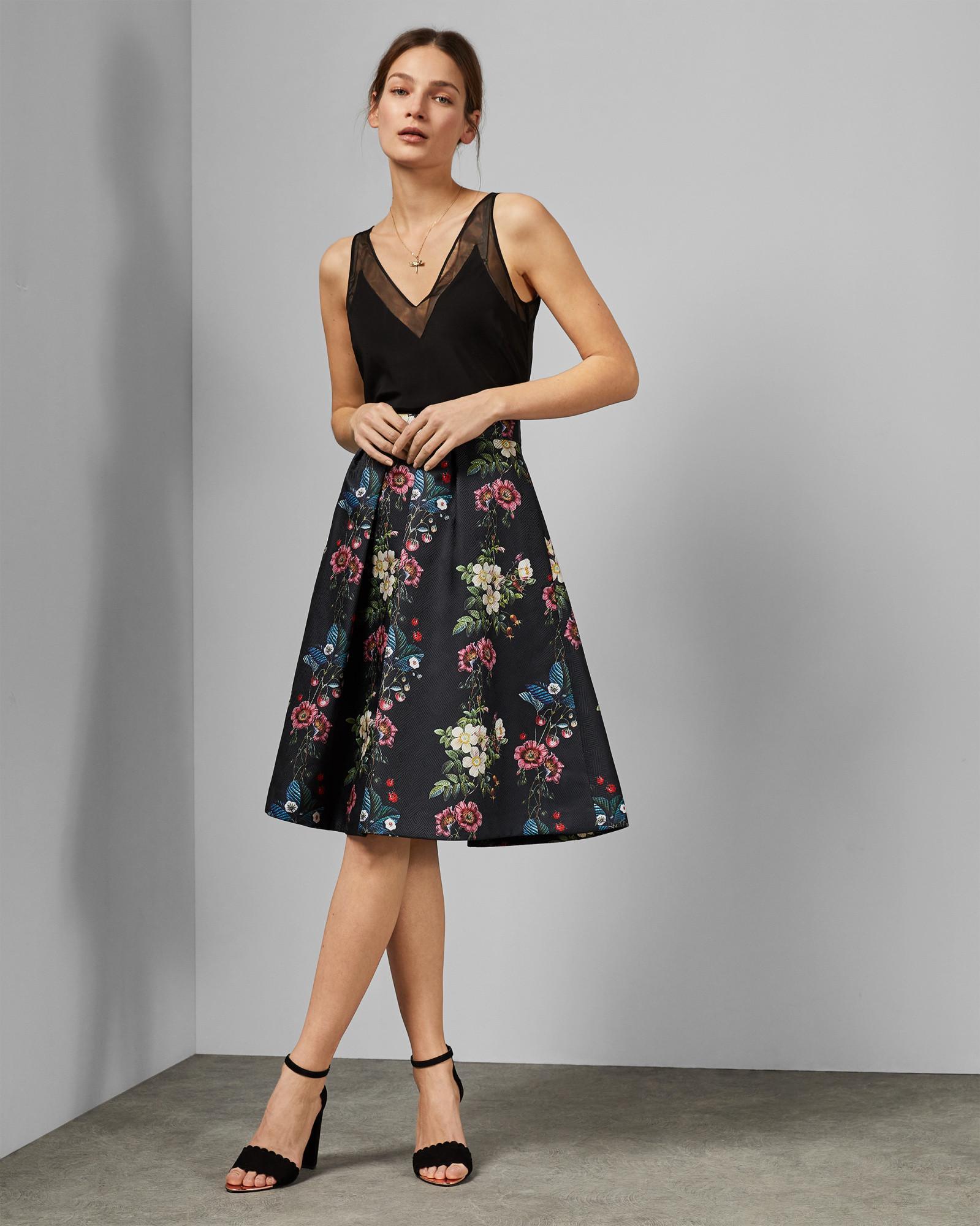 5ae54c50c5e06 Lyst - Ted Baker Oracle Full Skirt in Black - Save 30%