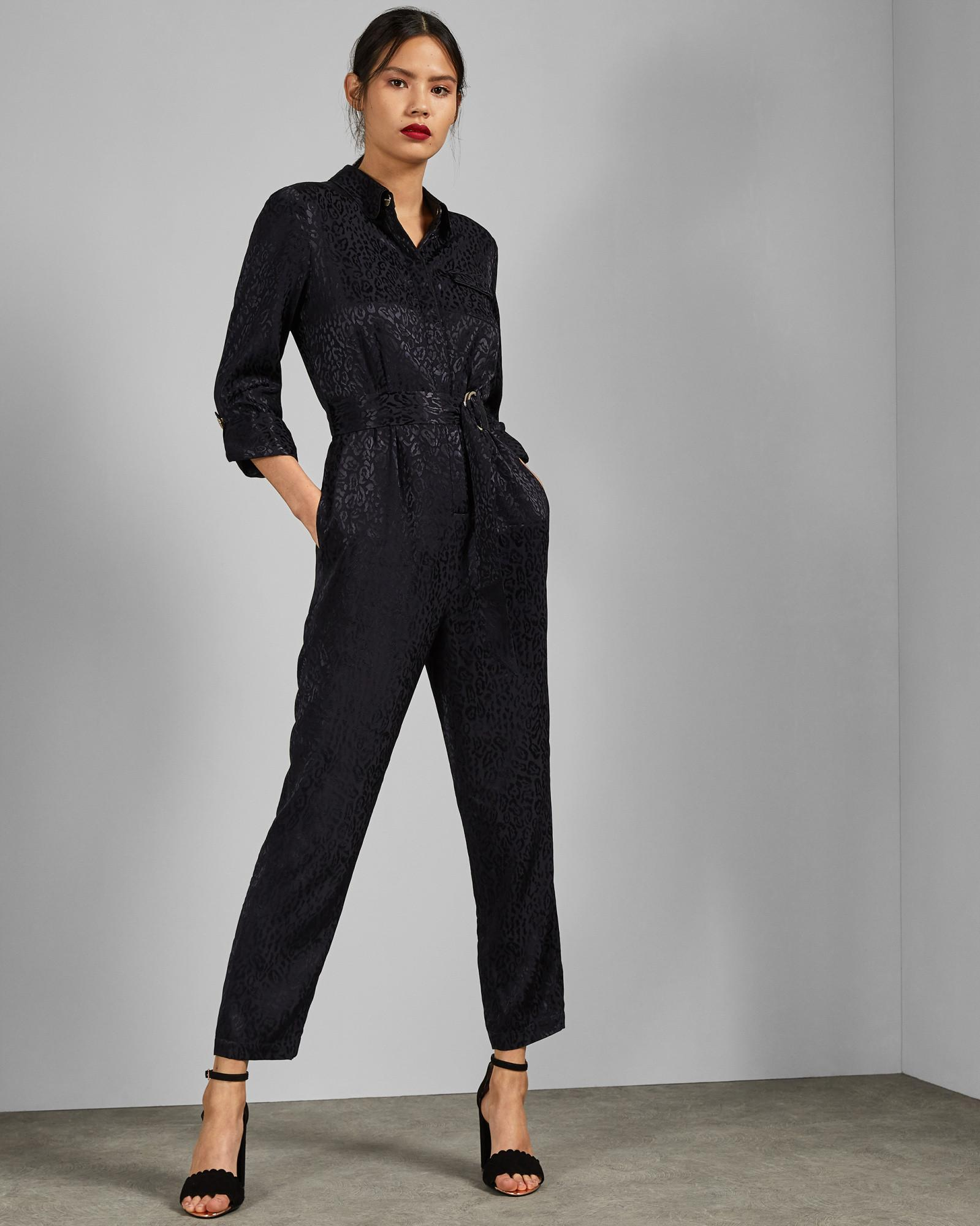 ec05e860180 Ted Baker Utility Jumpsuit in Blue - Lyst