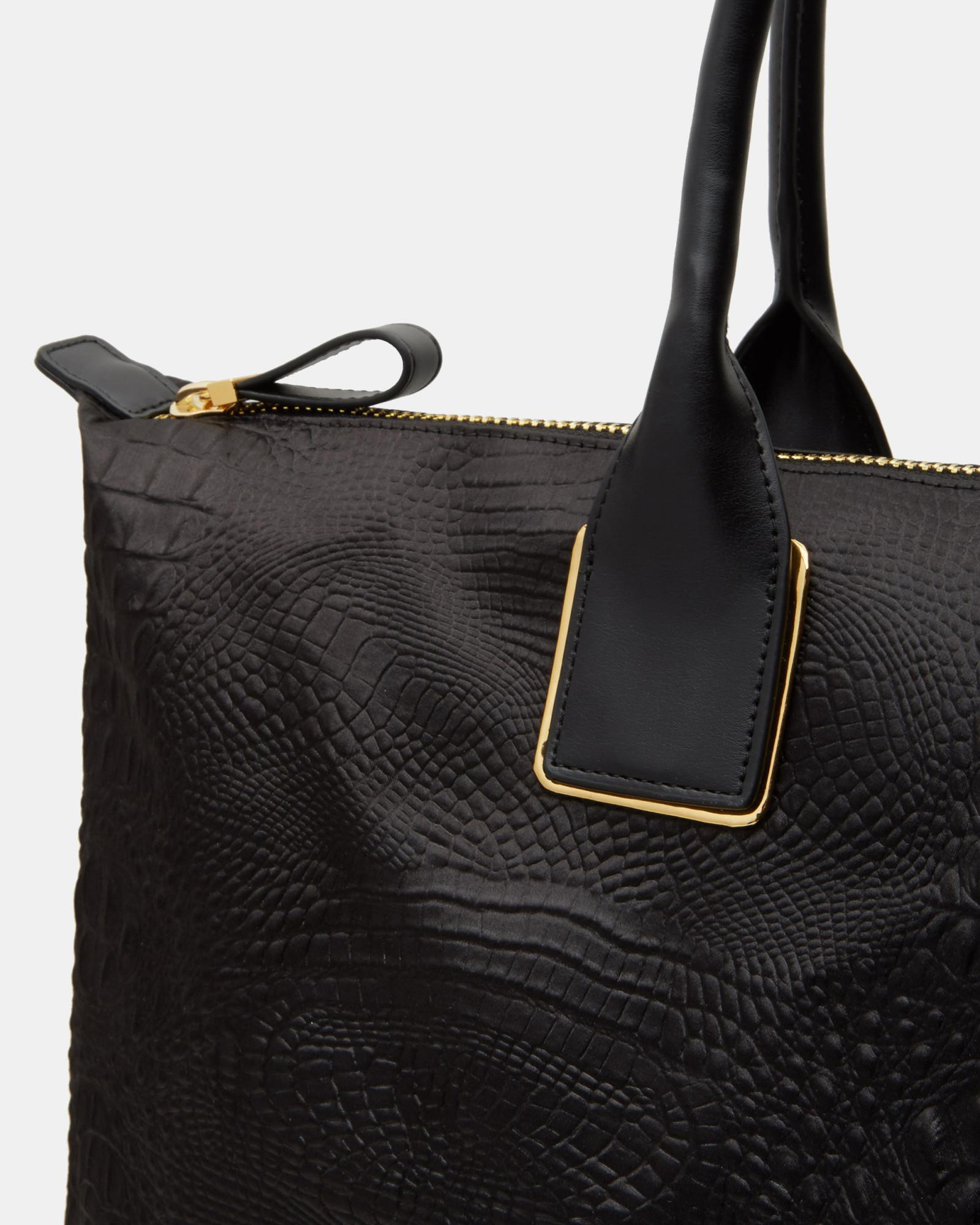 33575464b2e Lyst - Ted Baker Exotic Large Tote Bag in Black