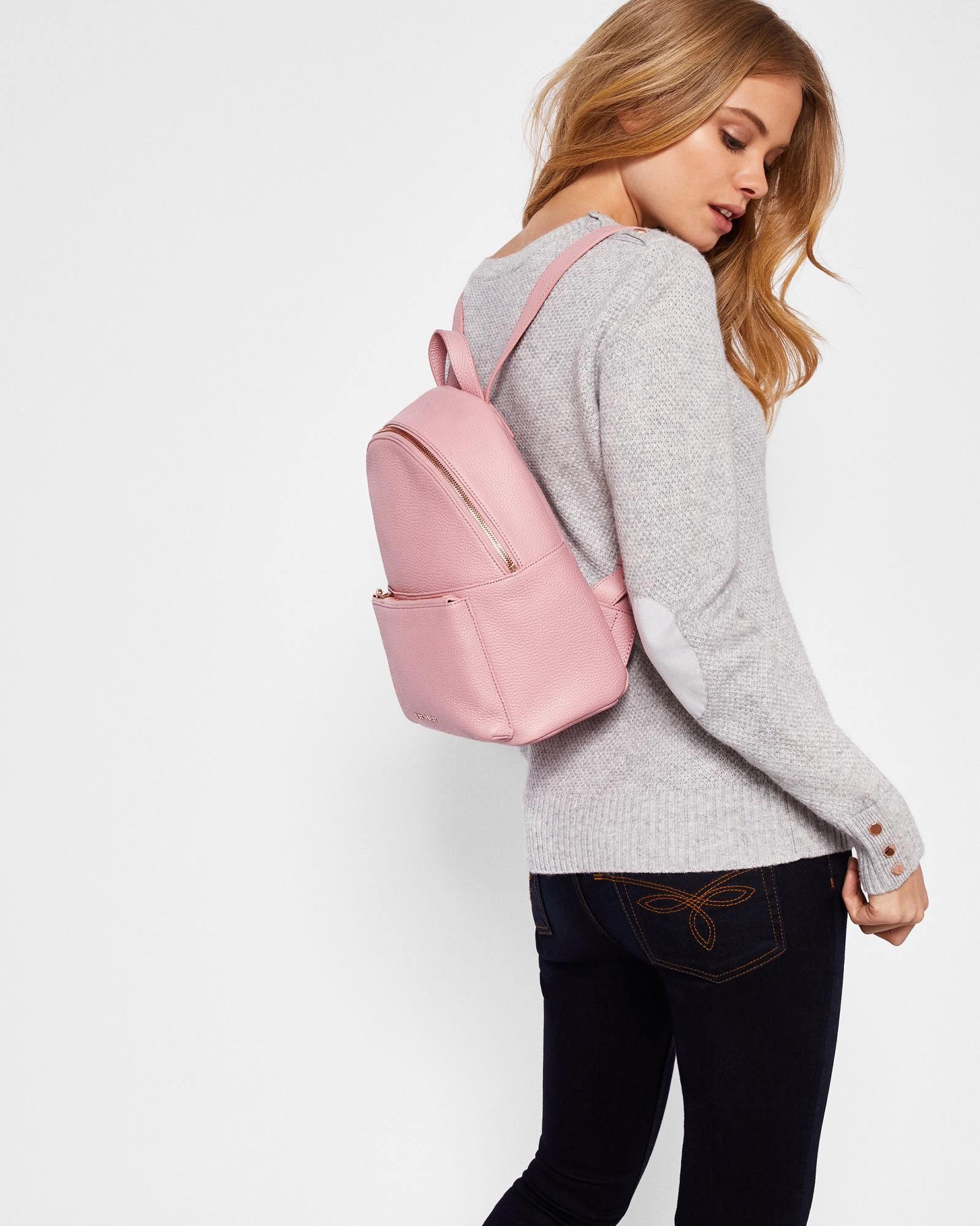 2c3b50e6d Ted Baker Pearen Leather Backpack in Pink - Lyst